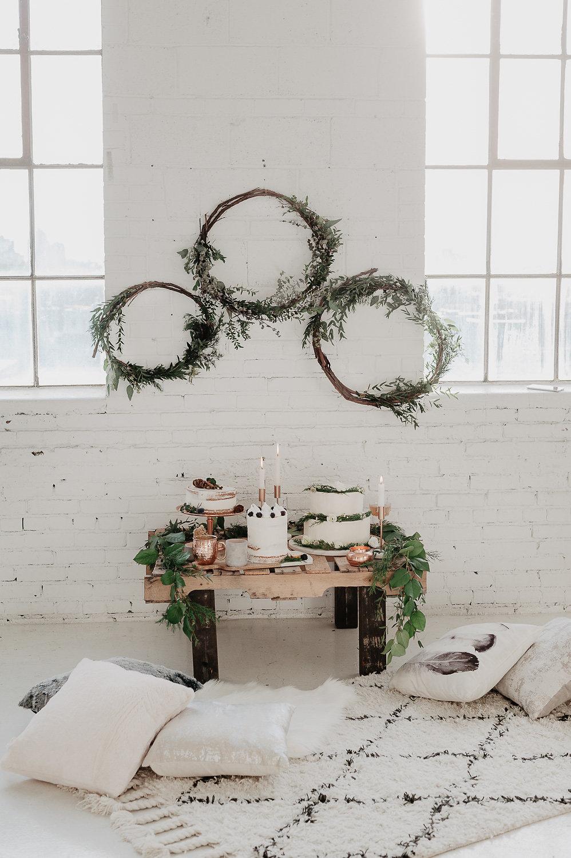 winter bridal shower shoot julia garcia cakes hoops