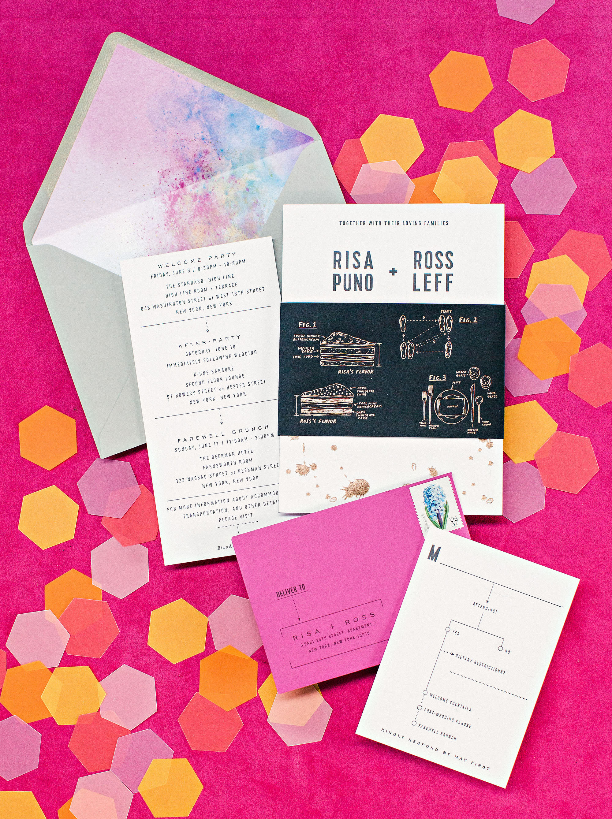 risa ross wedding brooklyn new york stationery suite