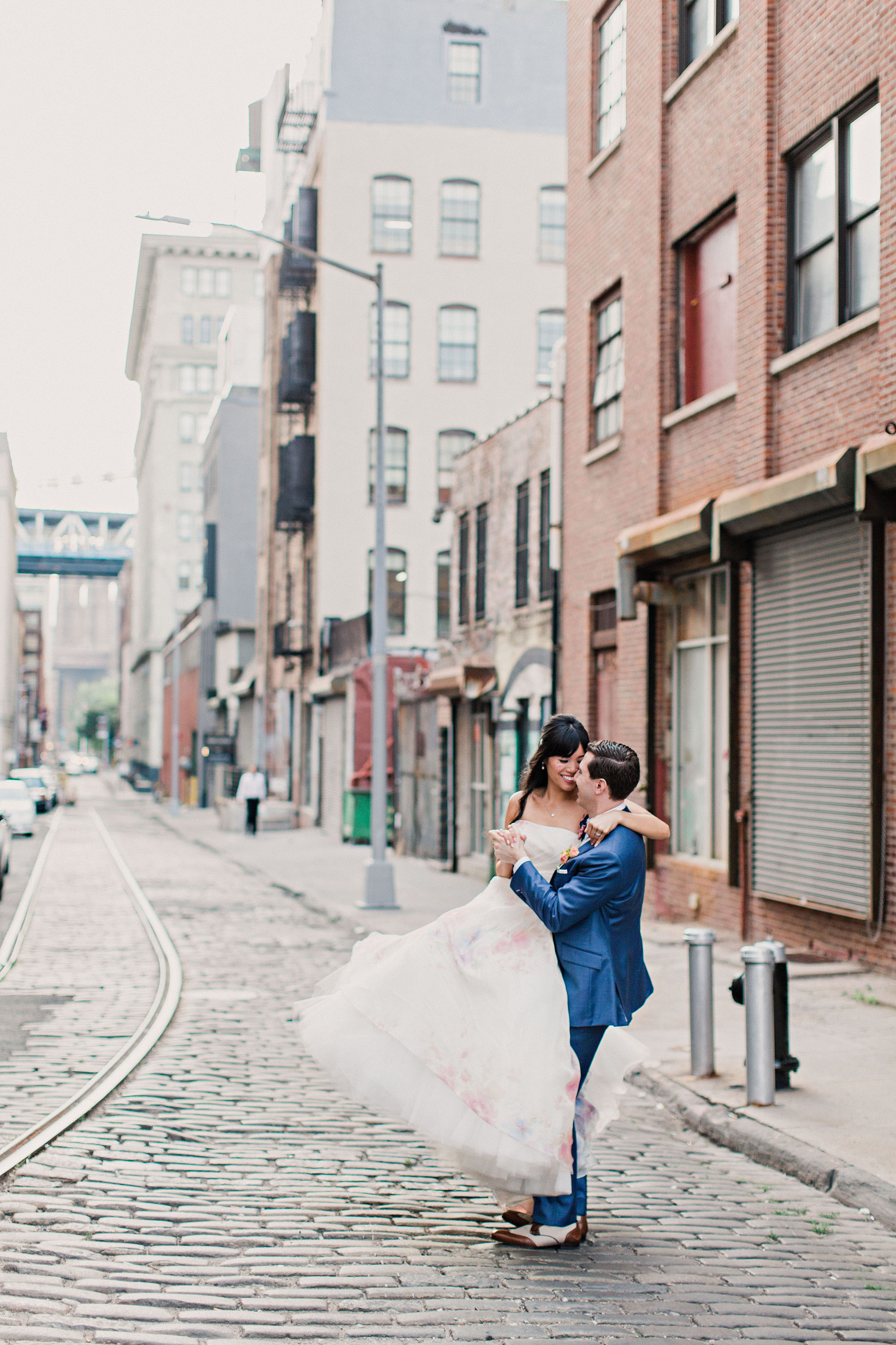 risa ross wedding brooklyn new york couple on street