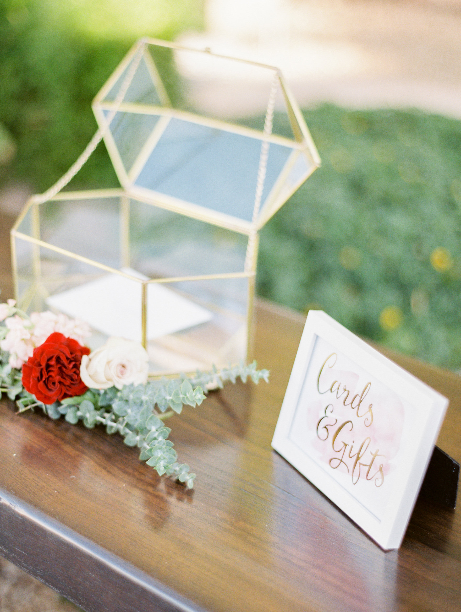 wedding gift tables rachel solomon photography geometric vessel