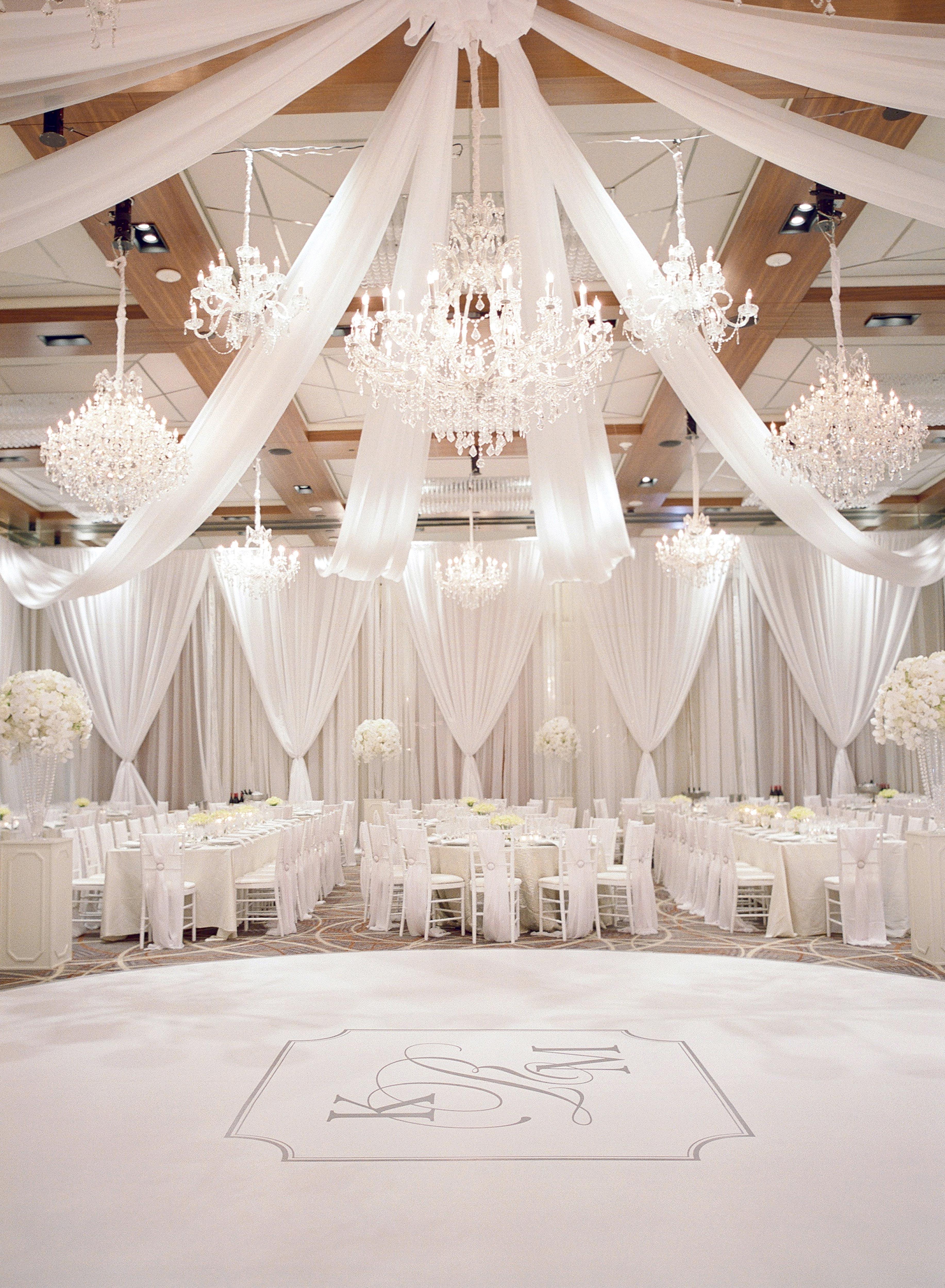 ballroom monogram dance floor white