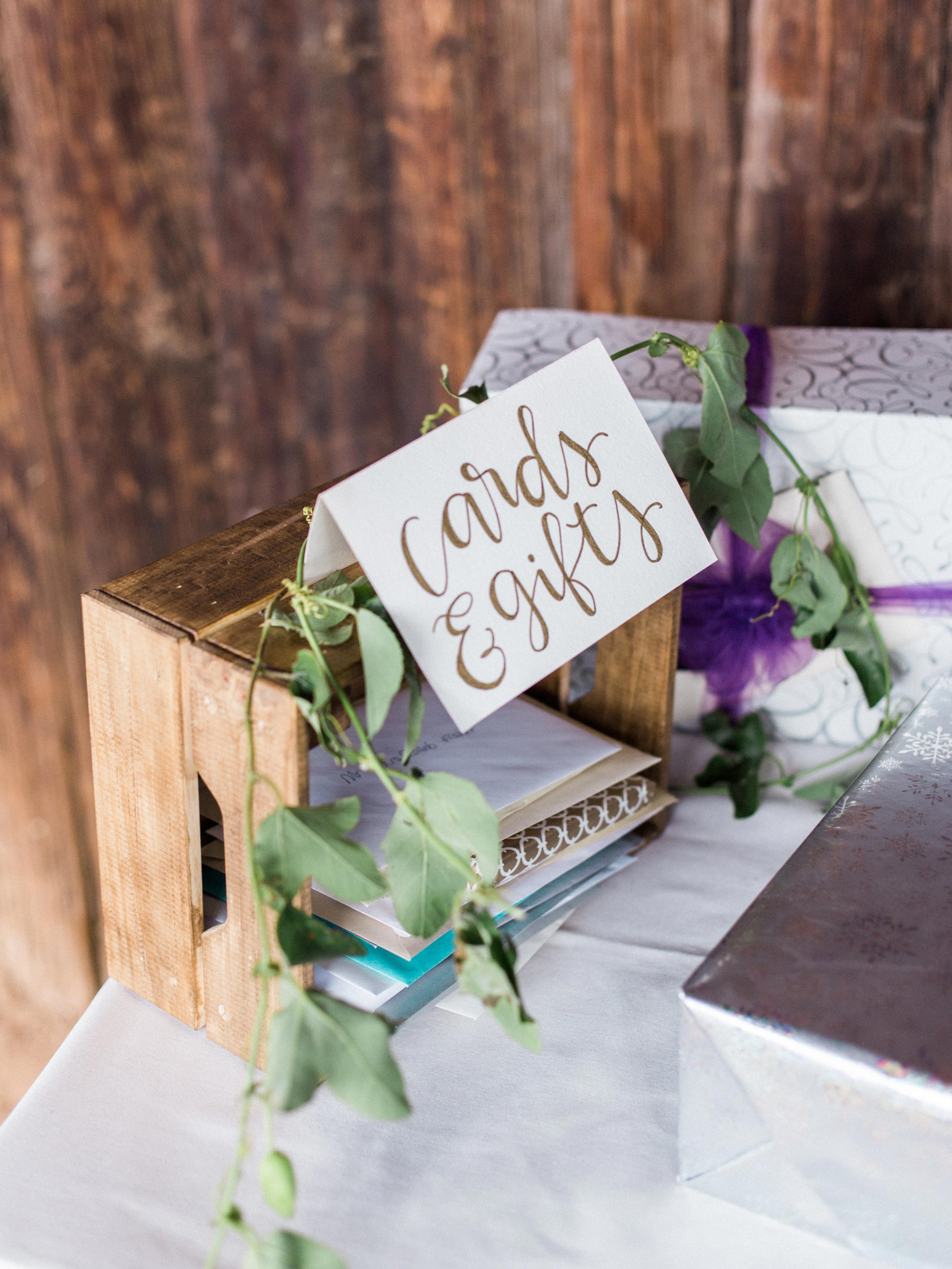 wedding gift tables rachel solomon photography wooden crate