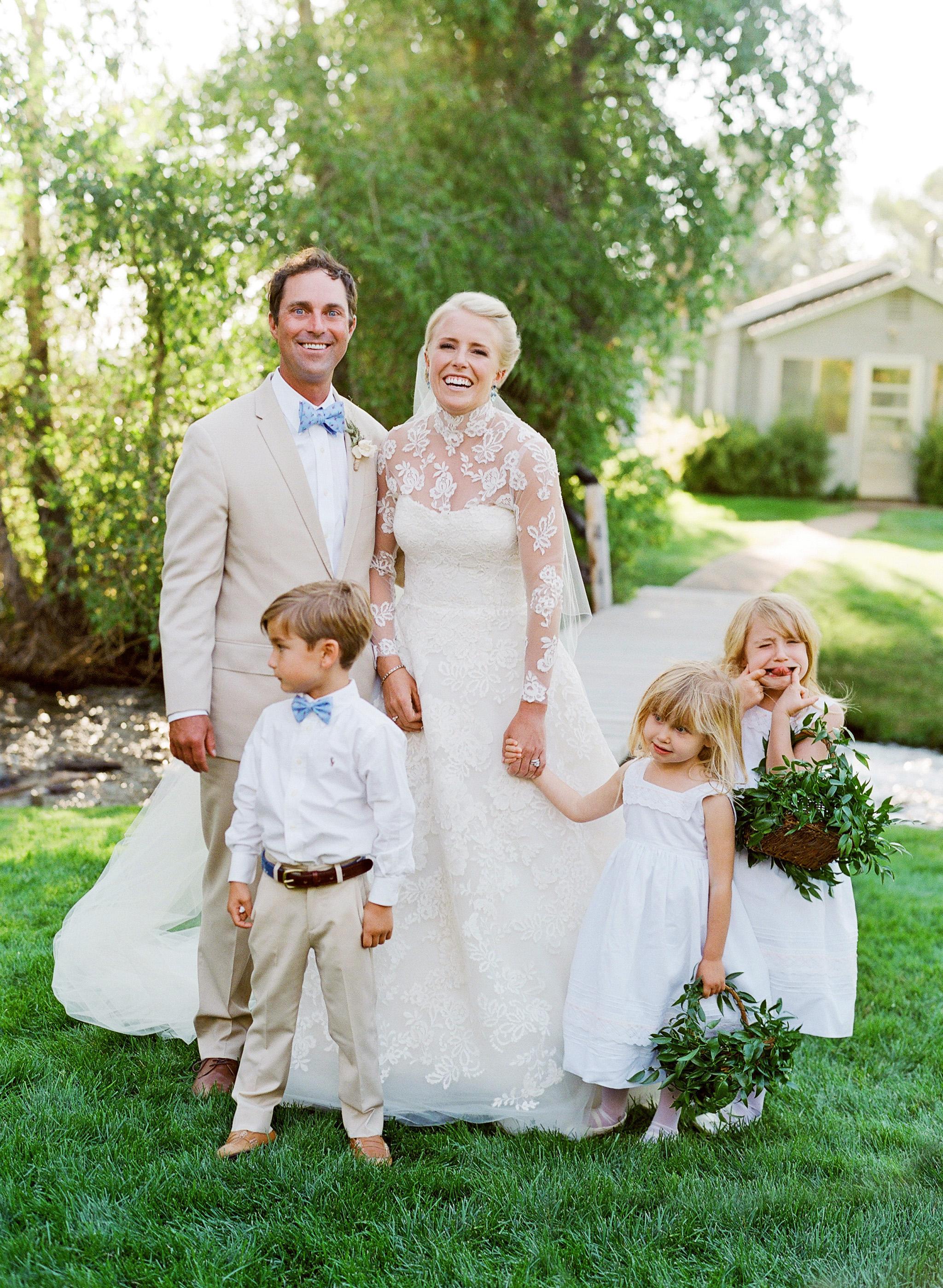 bessie john wedding couple kids