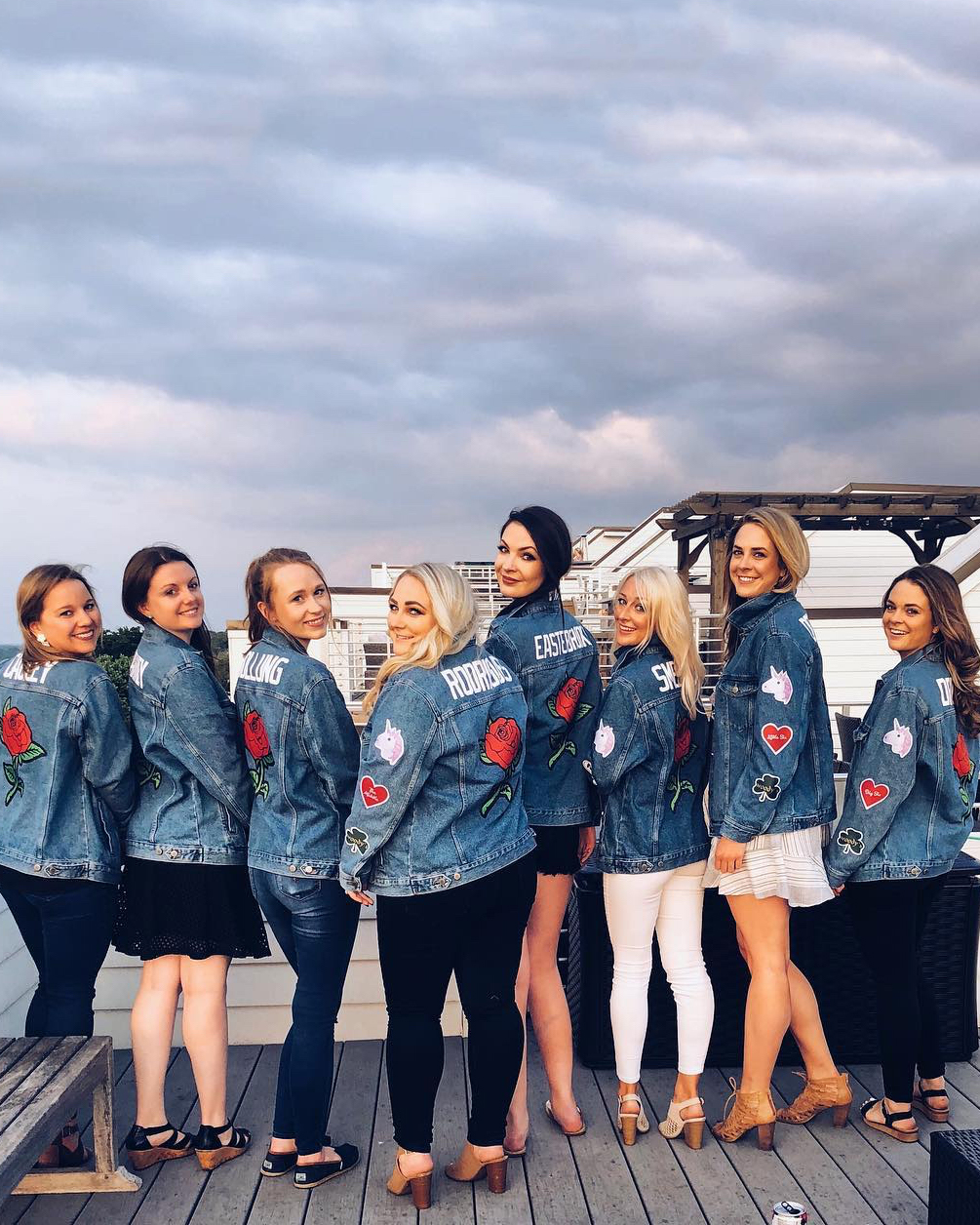 real brides bachelorette group denim Nashville
