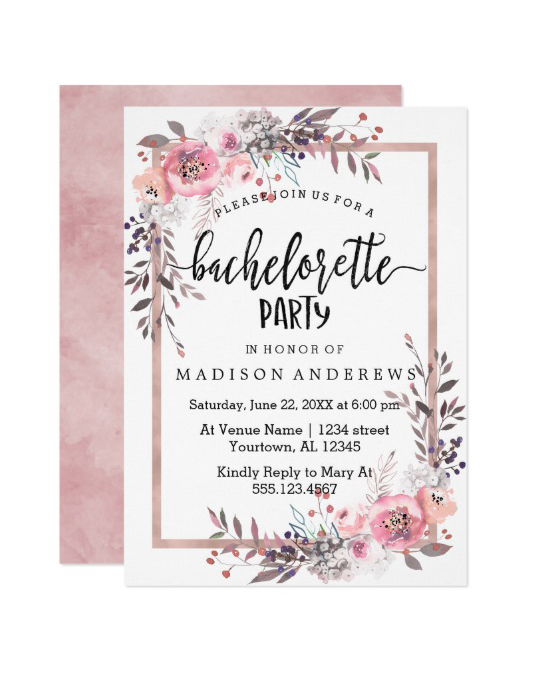 Our Favorite Bachelorette Party Invitations