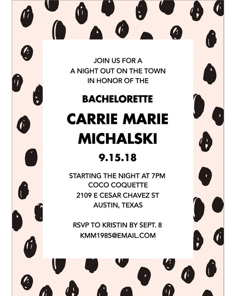 bachelorette party invites papersource dots