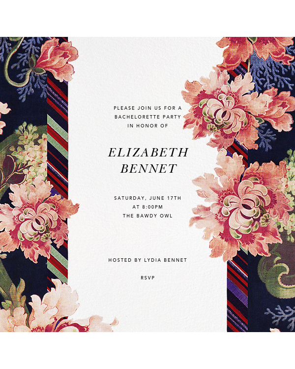 bachelorette party invites paperless post floral