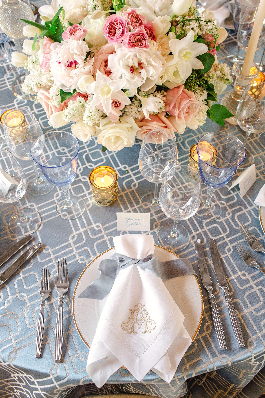 washington dc wedding table place setting