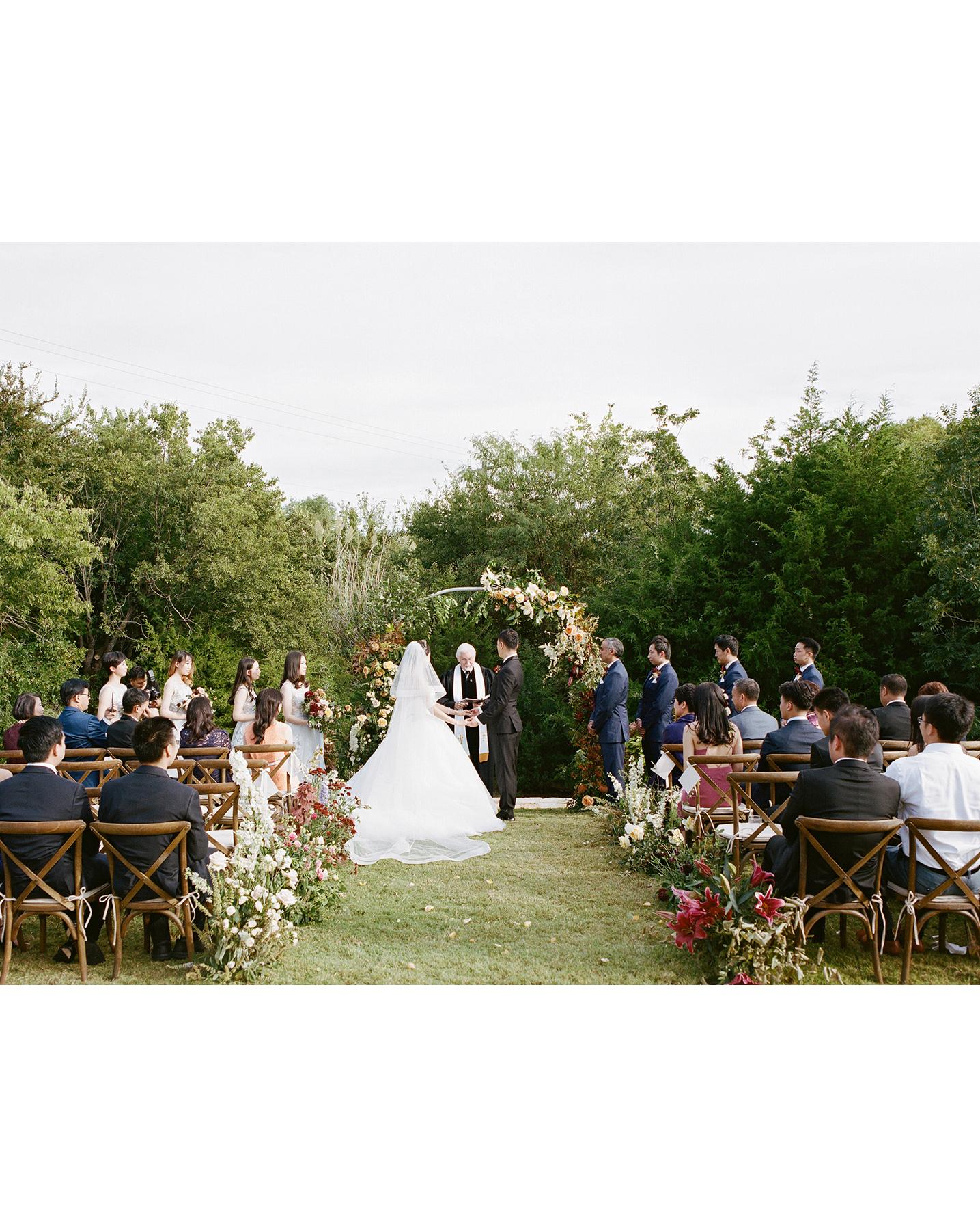 ivana nevin wedding outdoor ceremony