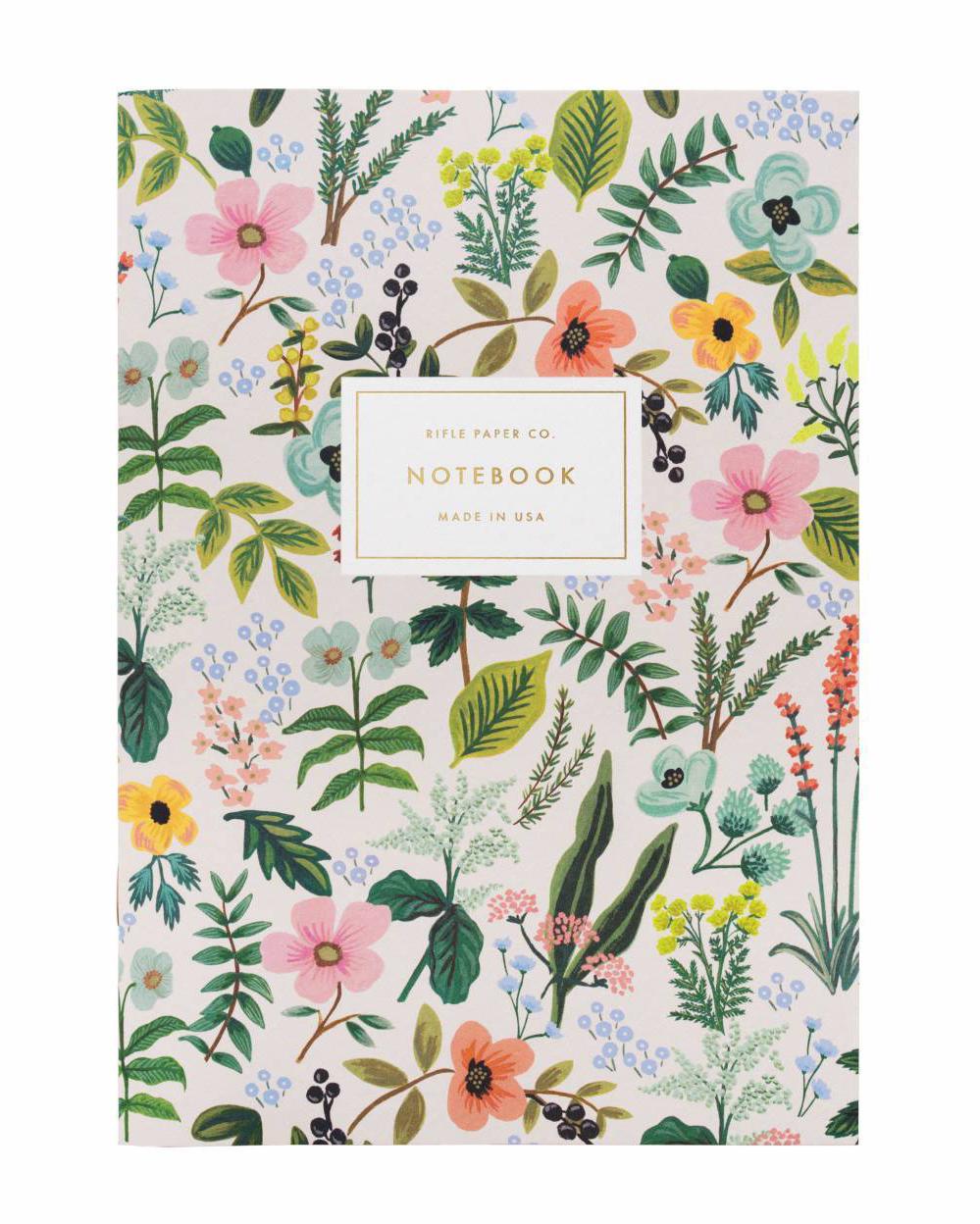 """Rifle Paper Co. """"Herb Garden"""" Slim Notebook"""
