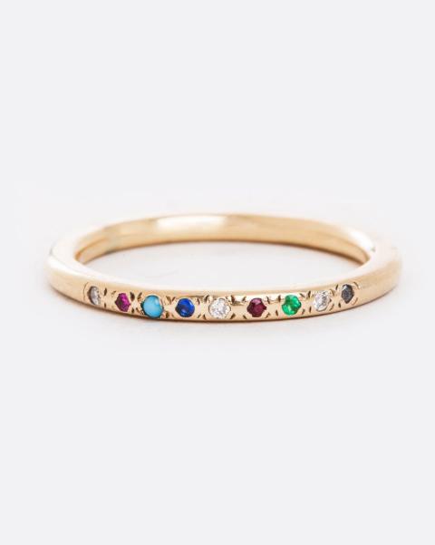 Scosha Mixed-Stone Ring