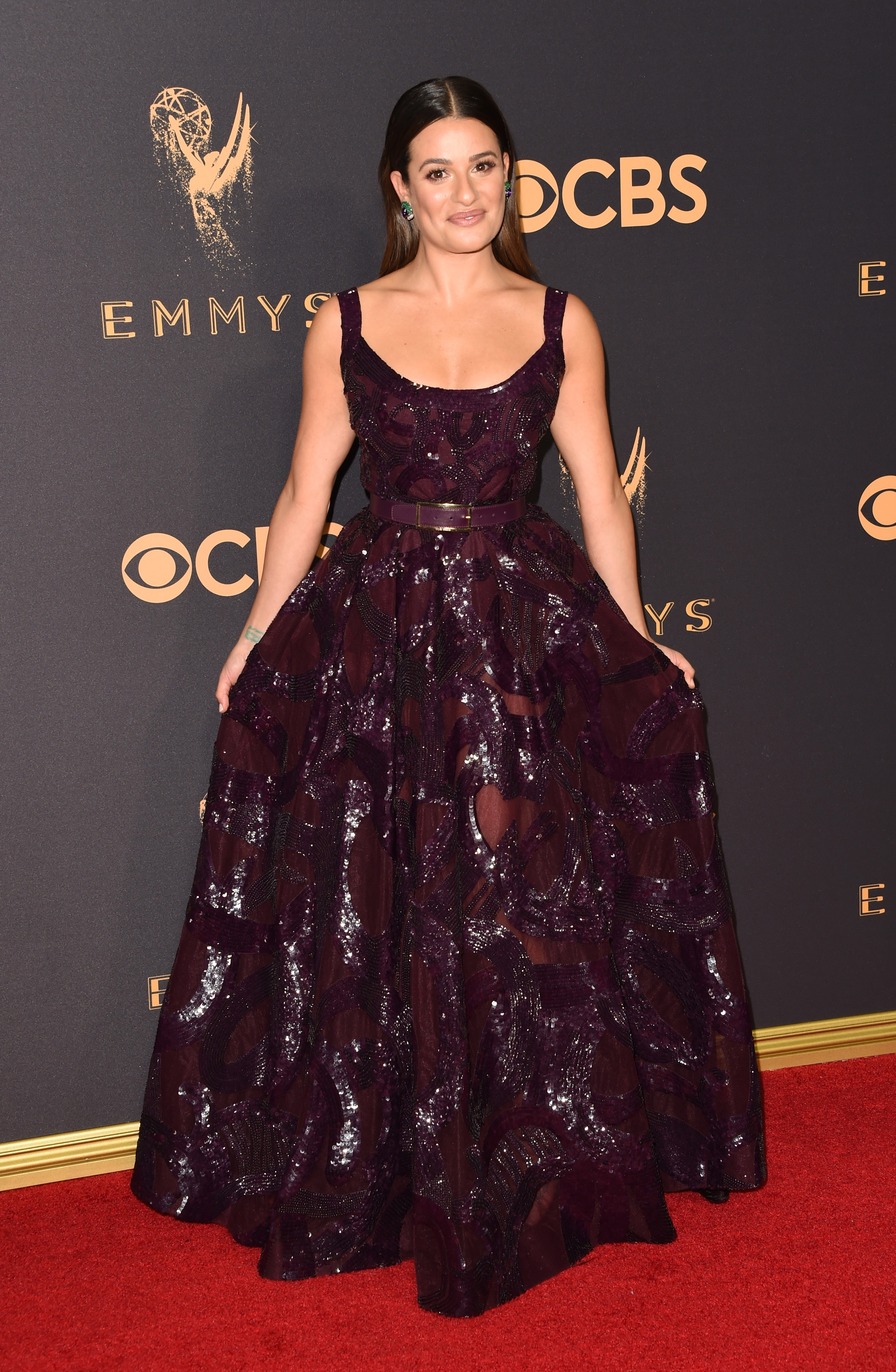 Lea Michele Emmys Red Carpet 2017