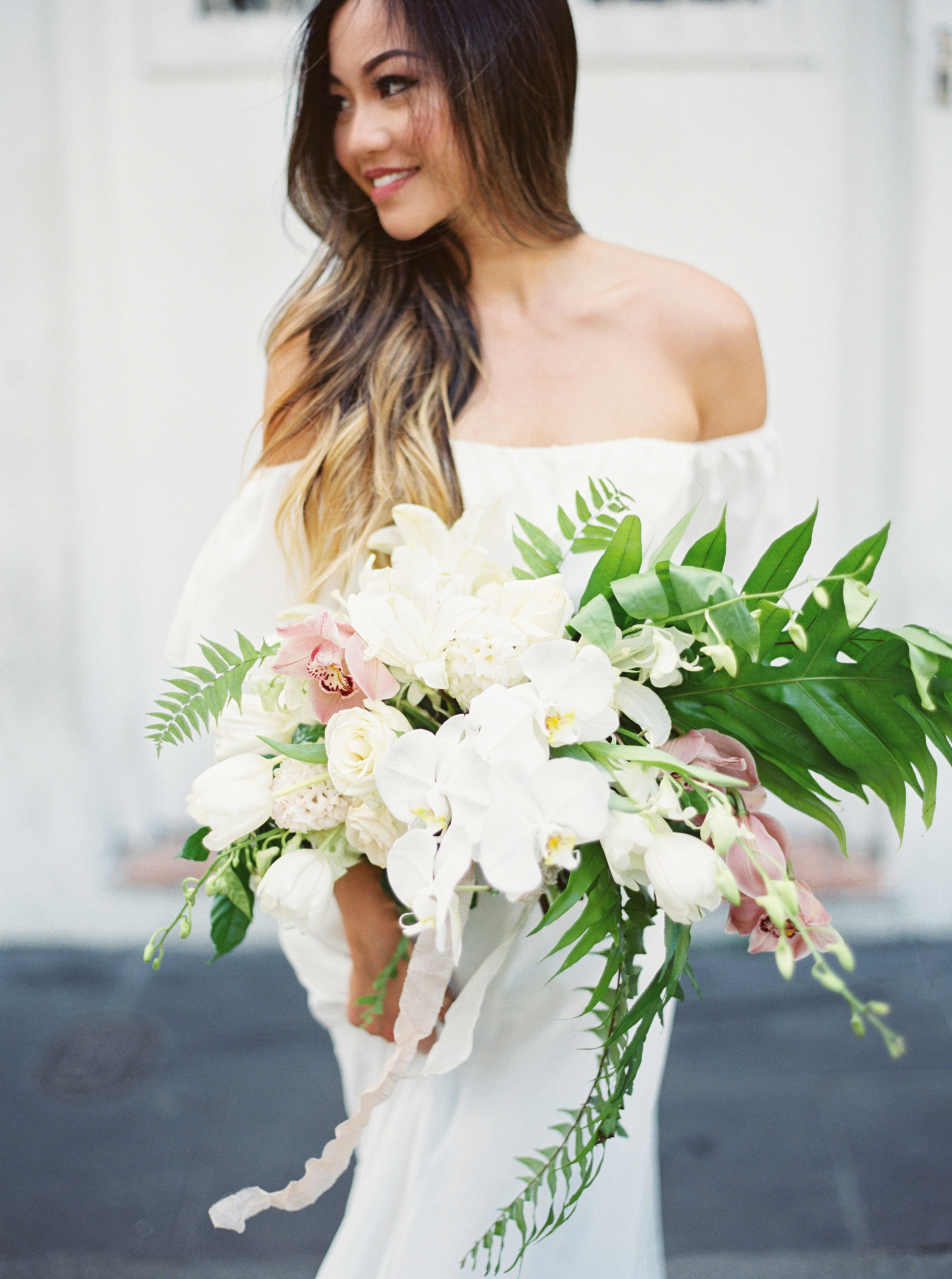 Tropical Orchid Wedding Bouquet