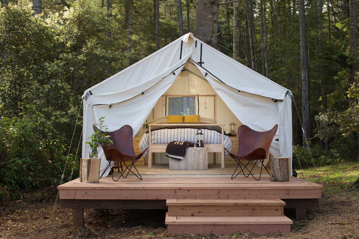 glamping bachelorette retreats mendocino grove