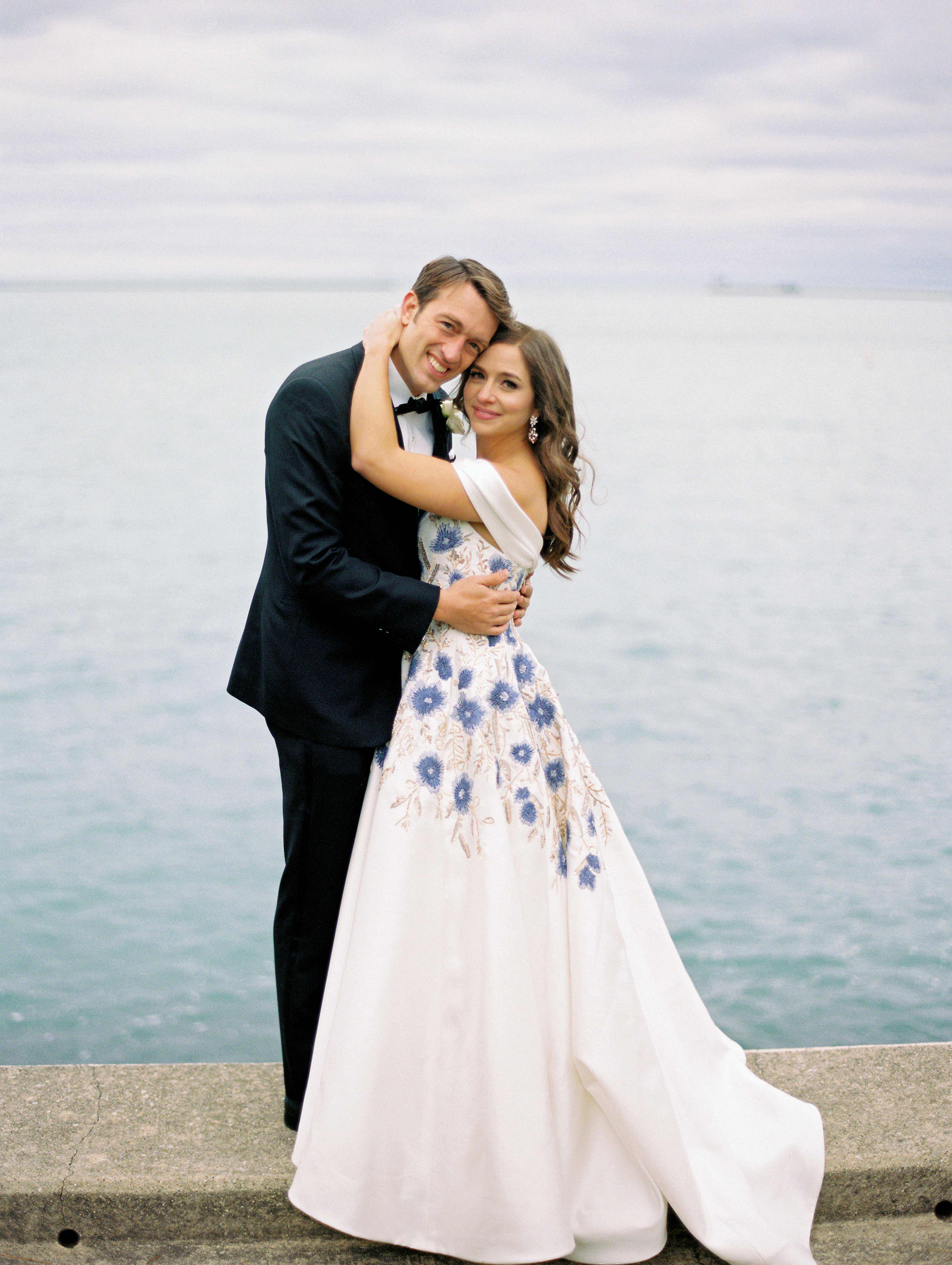 kori paul wedding couple embrace