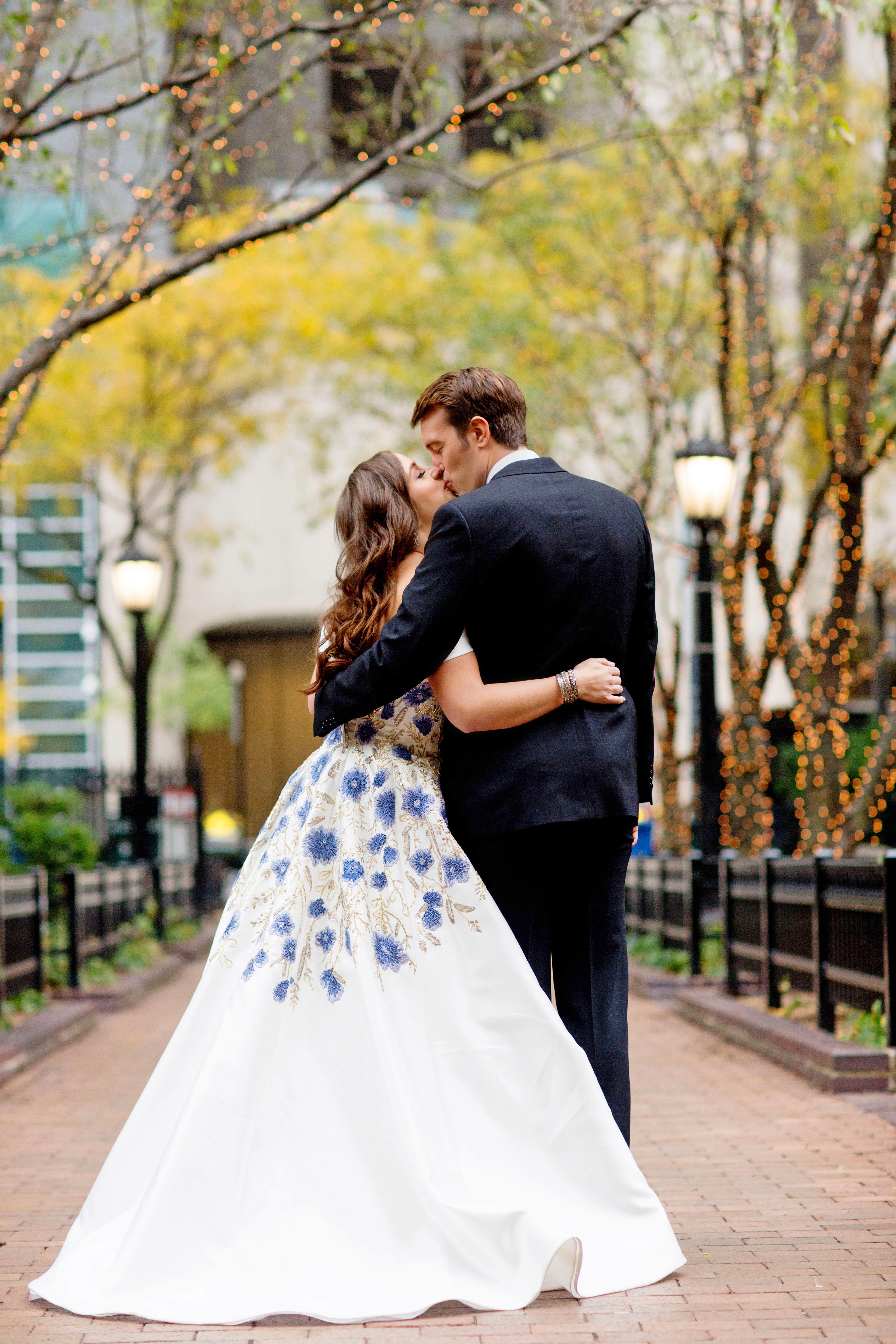 kori paul wedding couple kissing