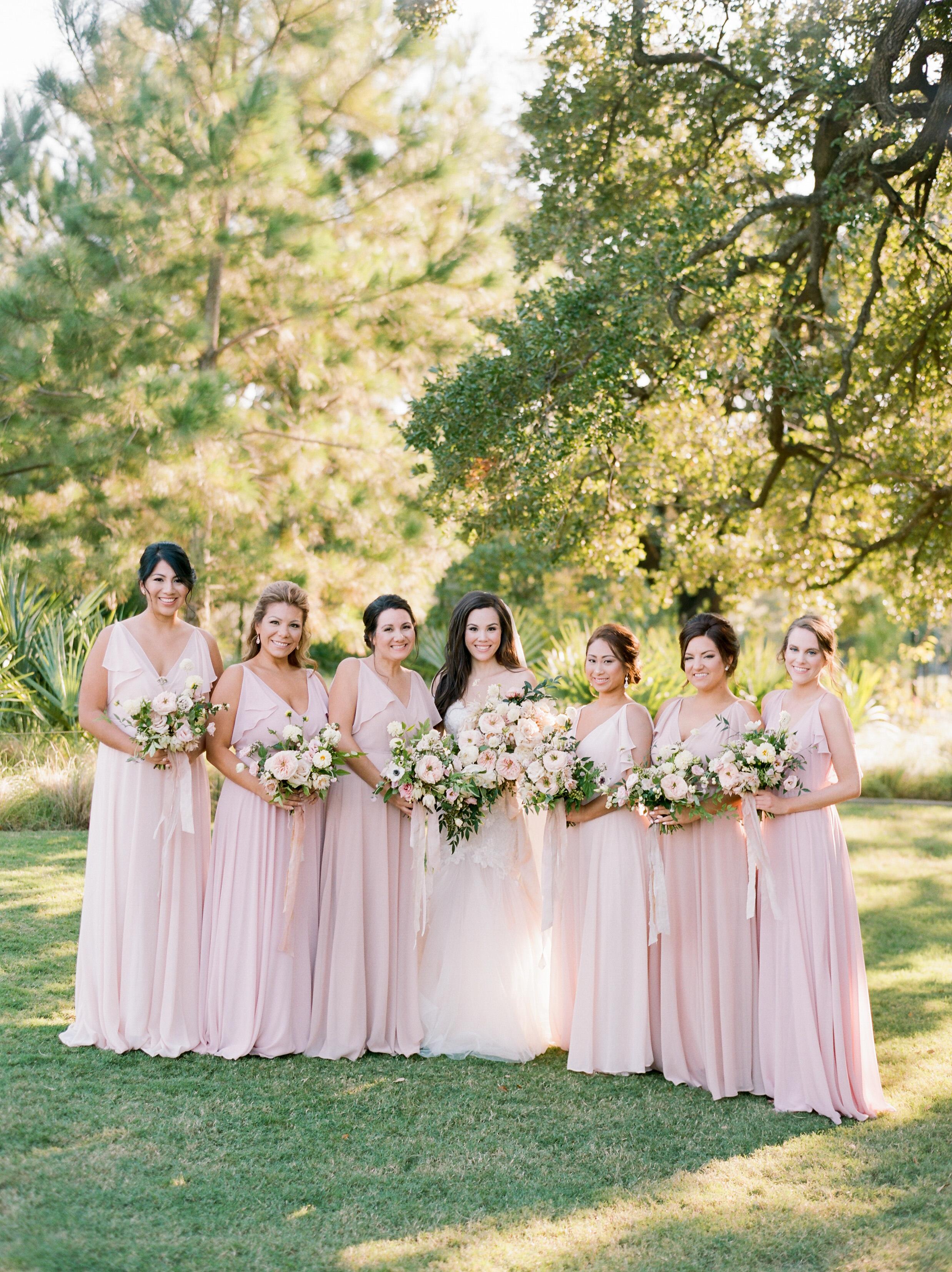 texas wedding bridesmaids