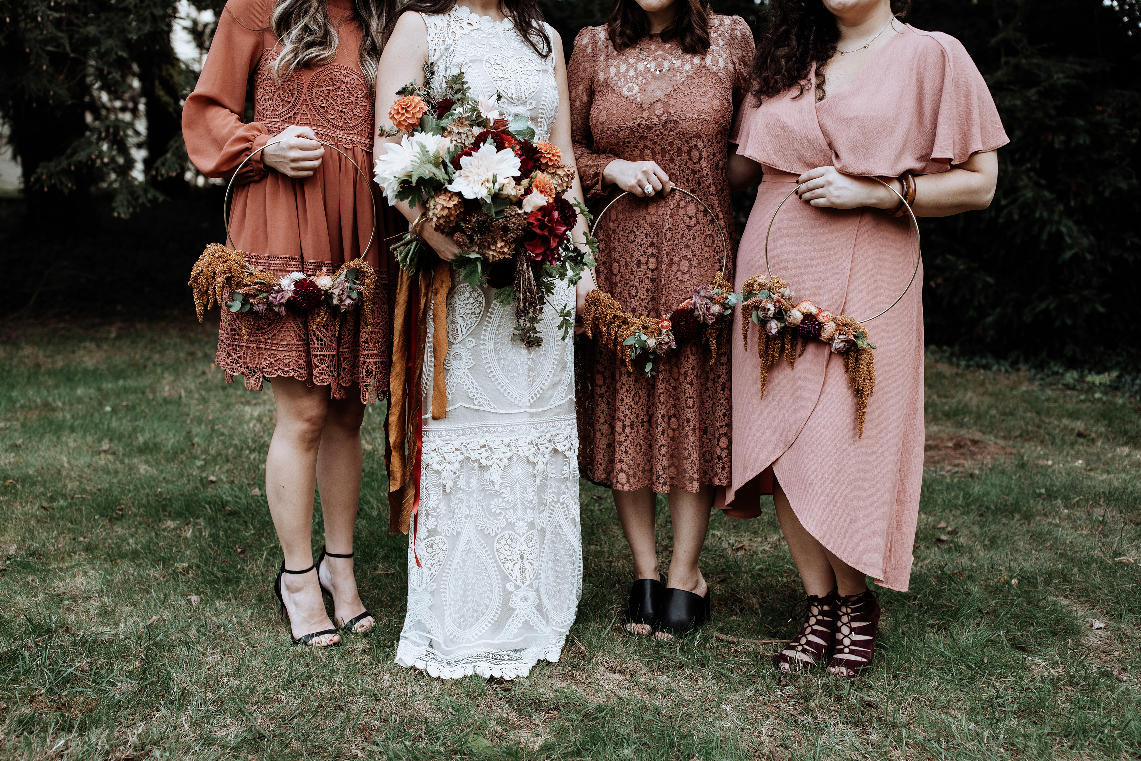 hoop bouquets with love and embers