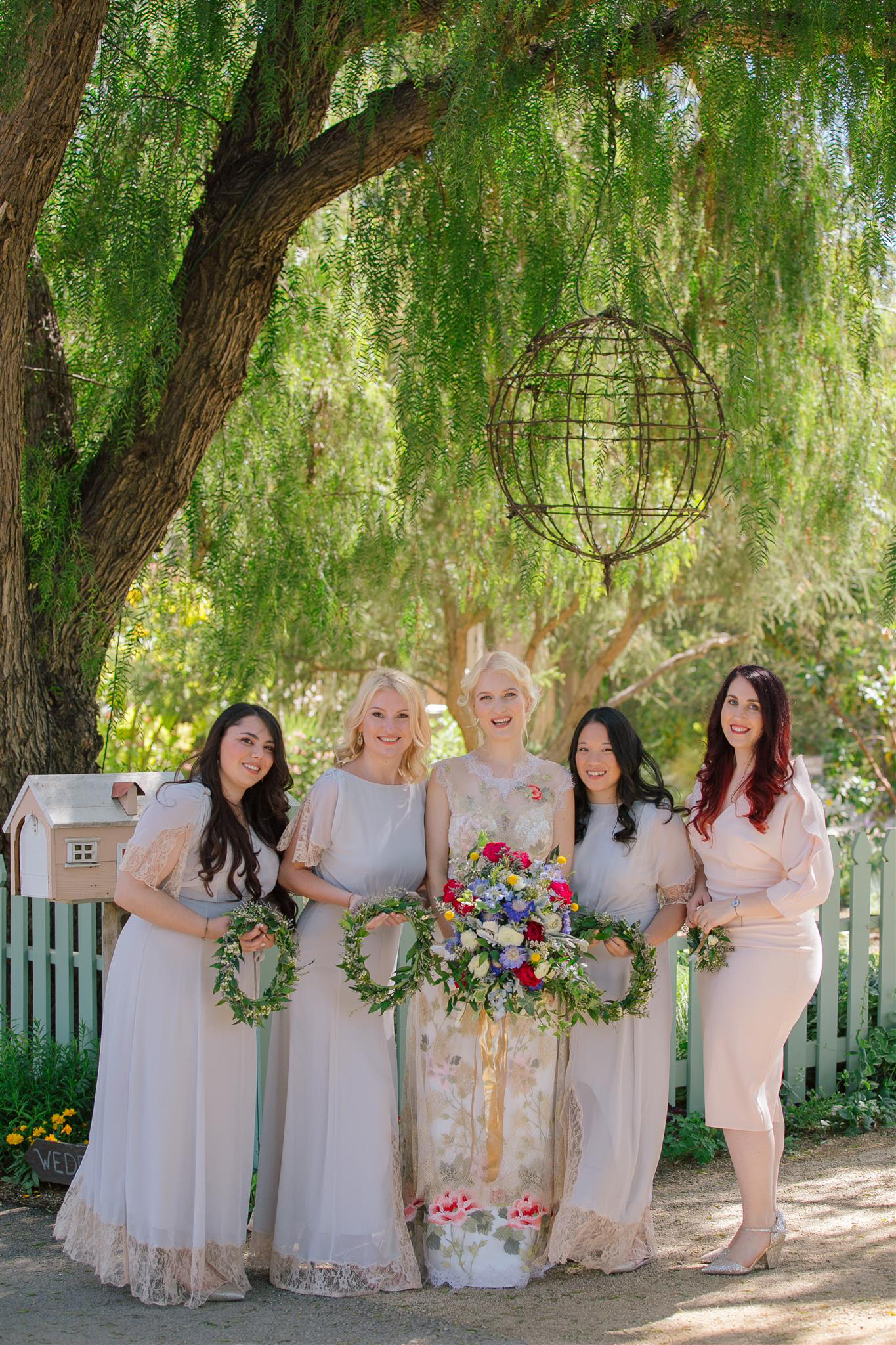 hoop bouquets wedding nature photography