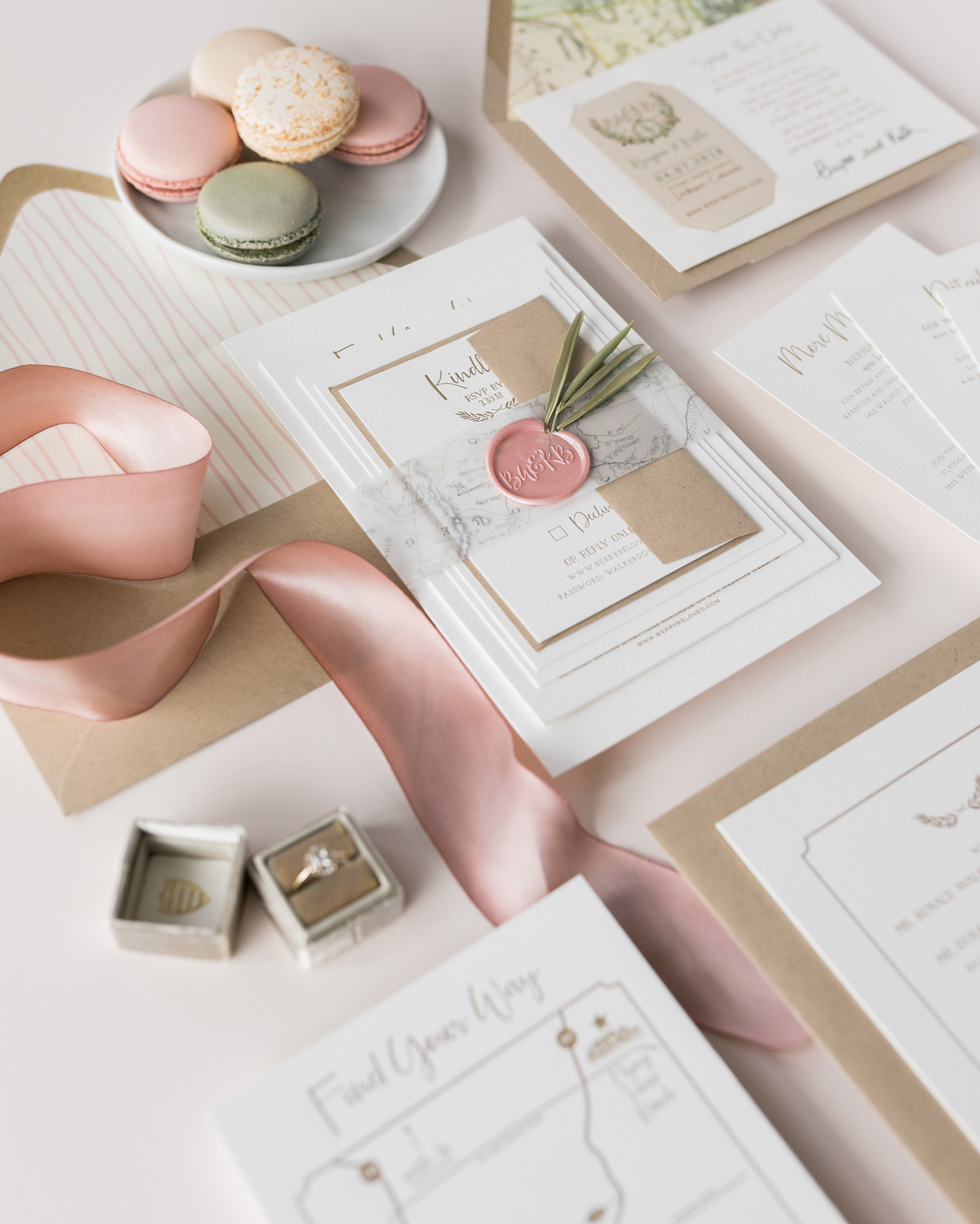 wax seal wedding invitations initial wax seal