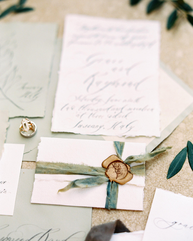 wax seal wedding invitations wax seal with ribbon