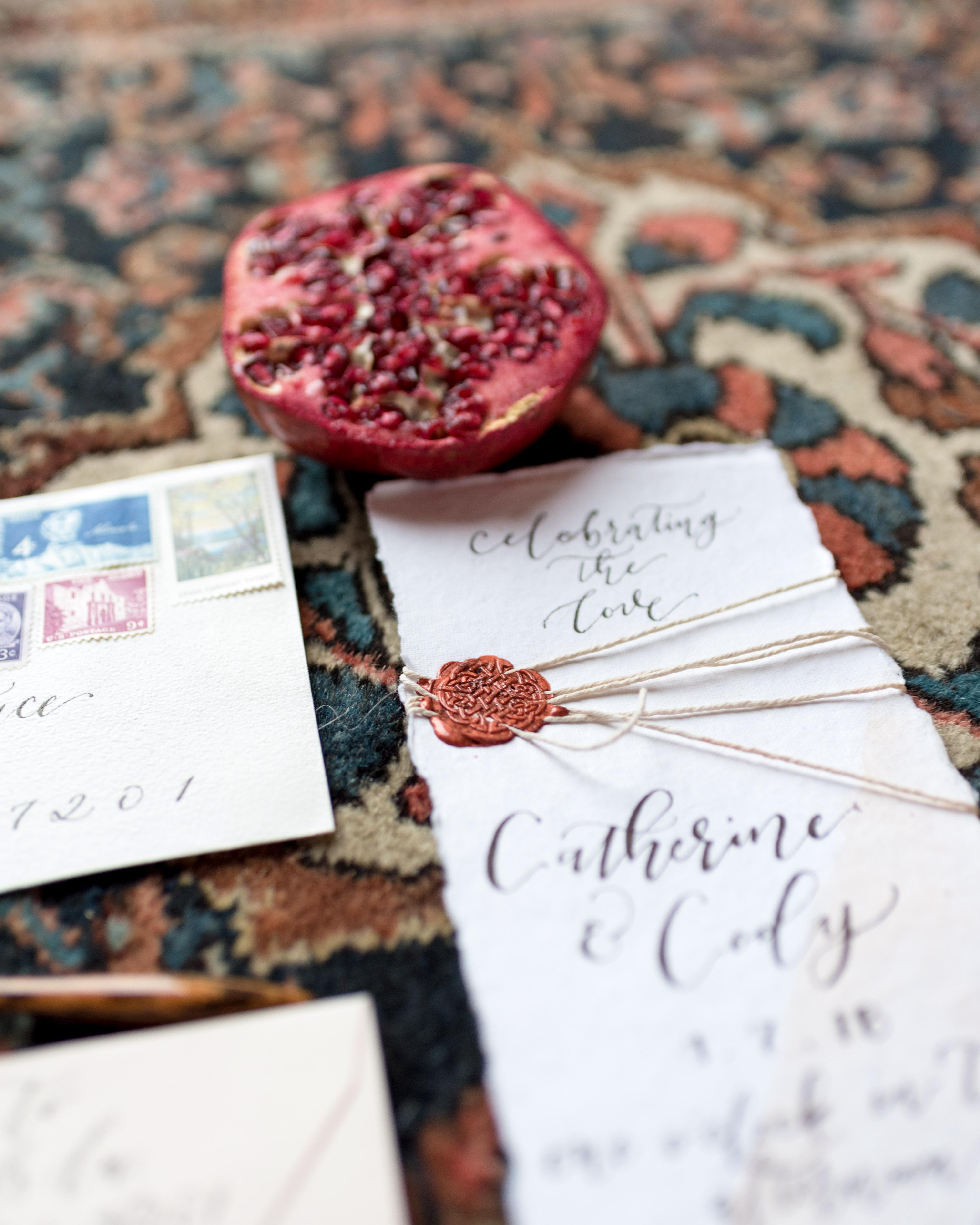 wax seal wedding invitations fruity wax seal