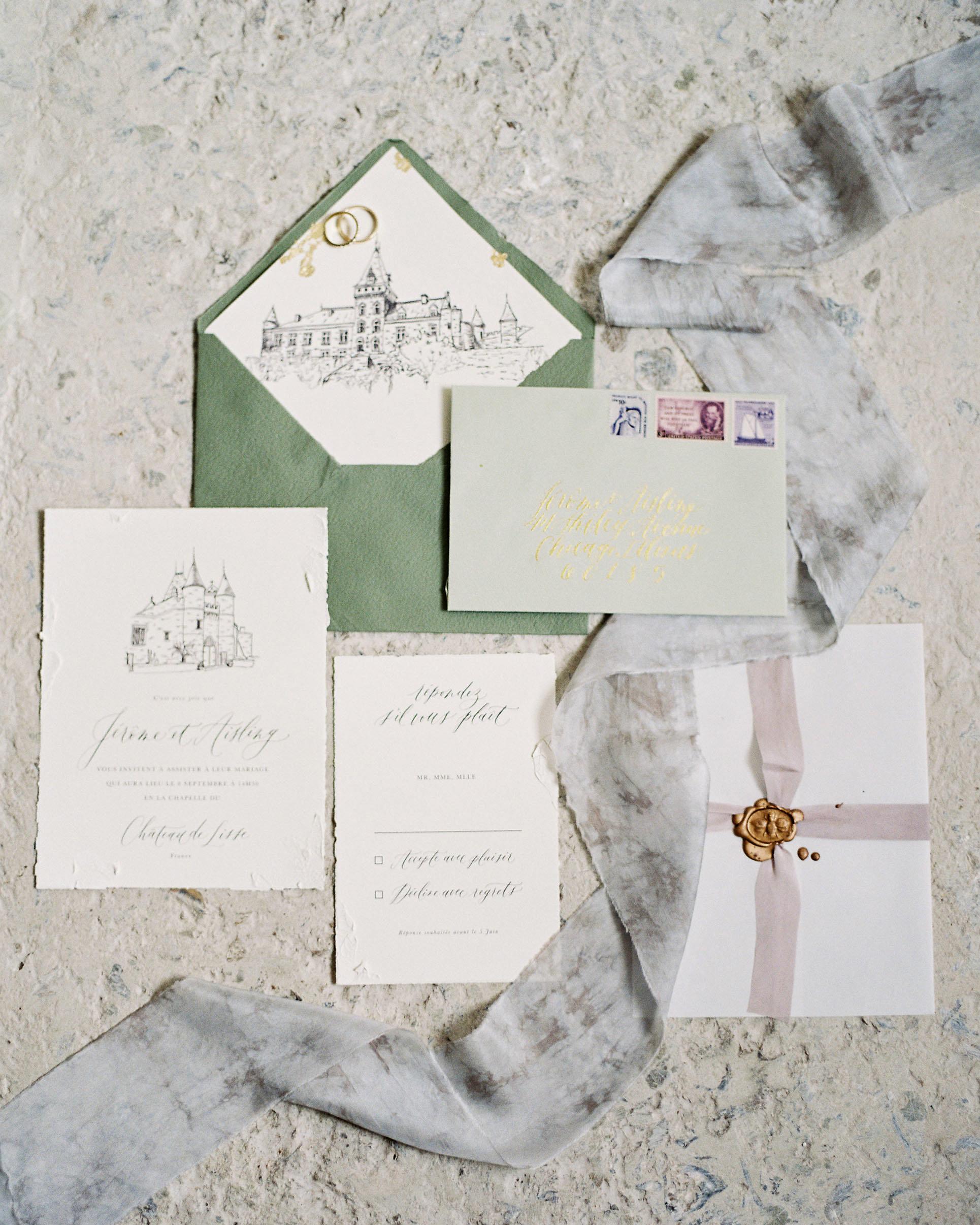 wax seal wedding invitations bug wax seal