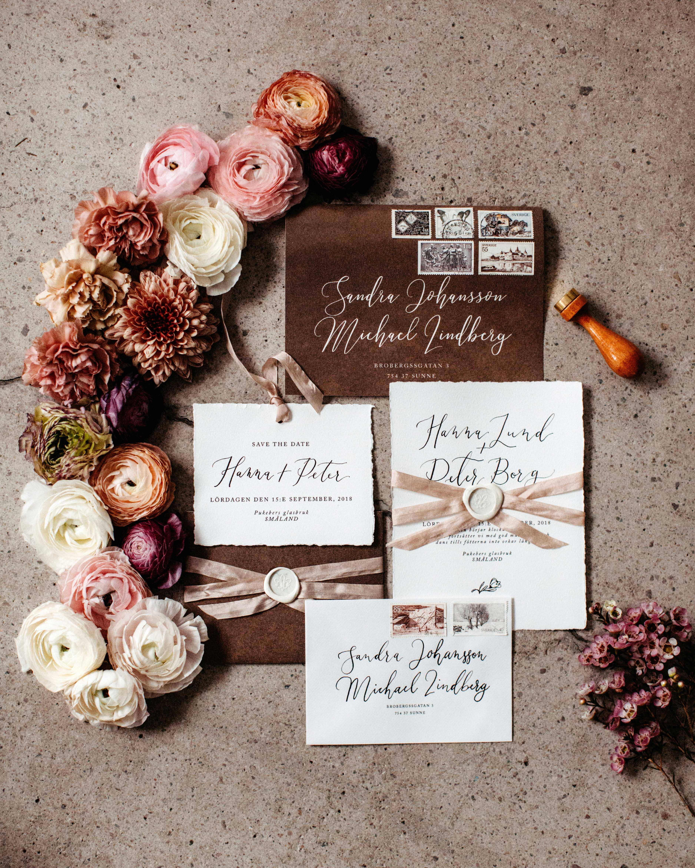 wax seal wedding invitations white wax seal