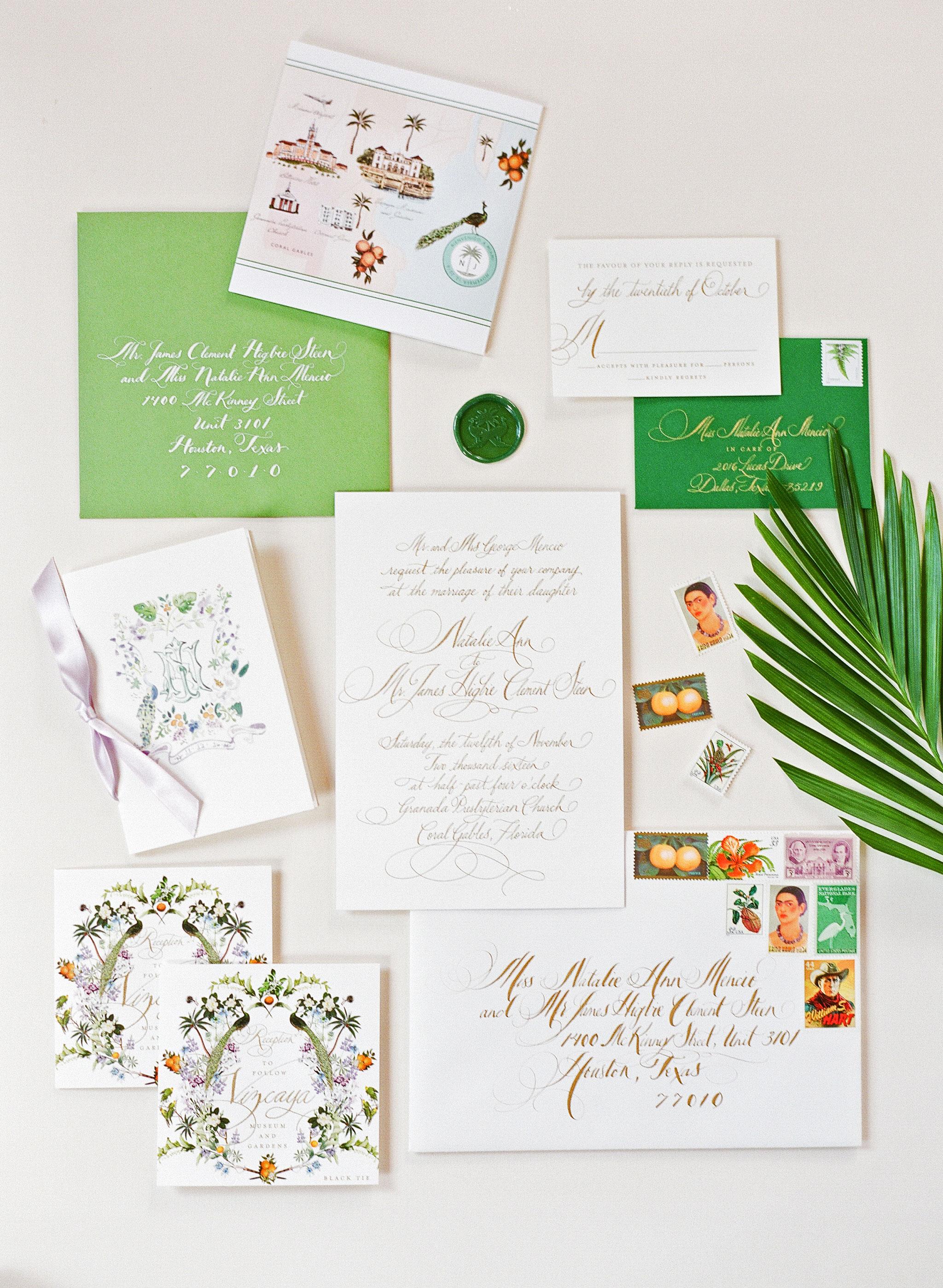 natalie jamey wedding stationery