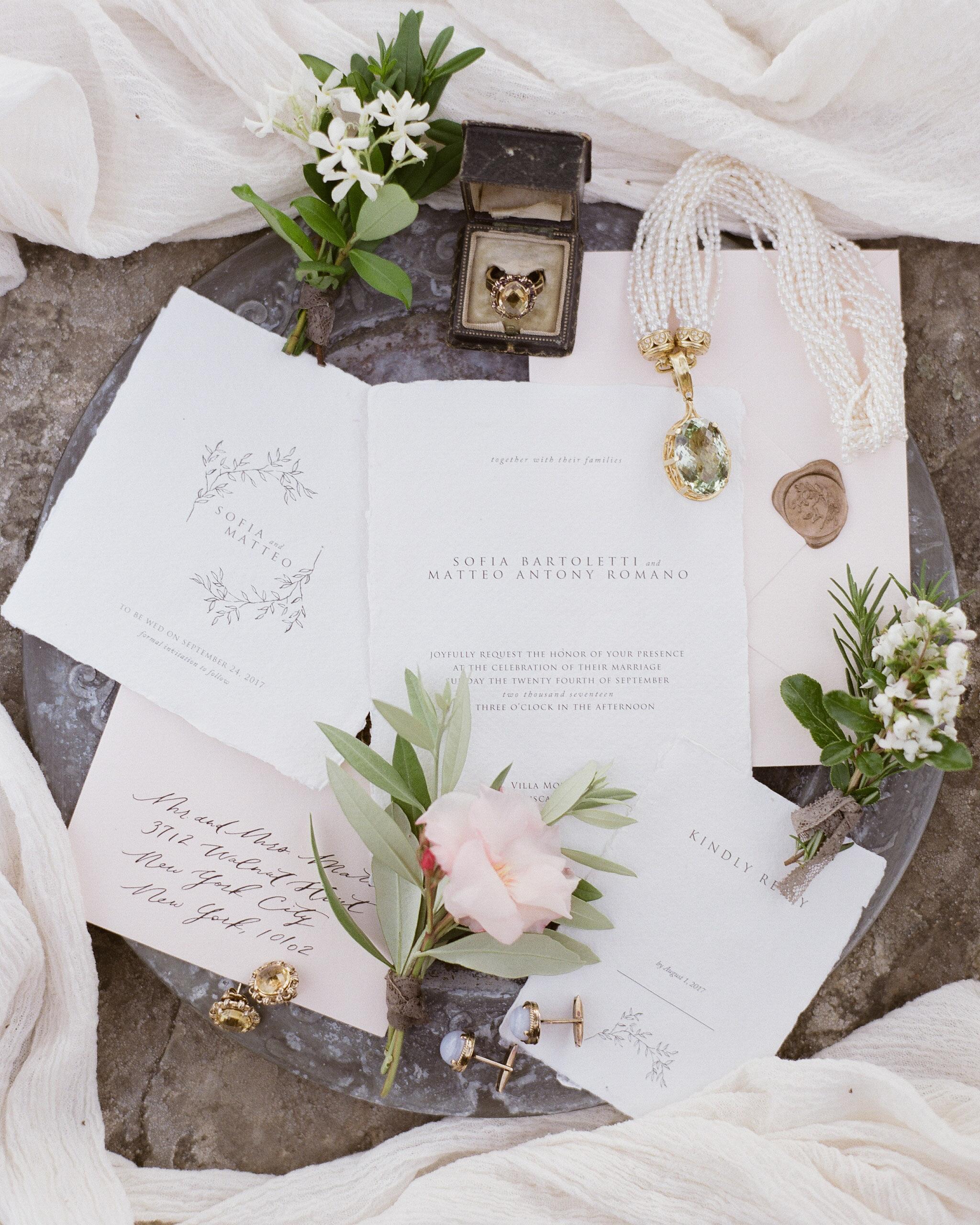wax seal wedding invitations brown wax seal