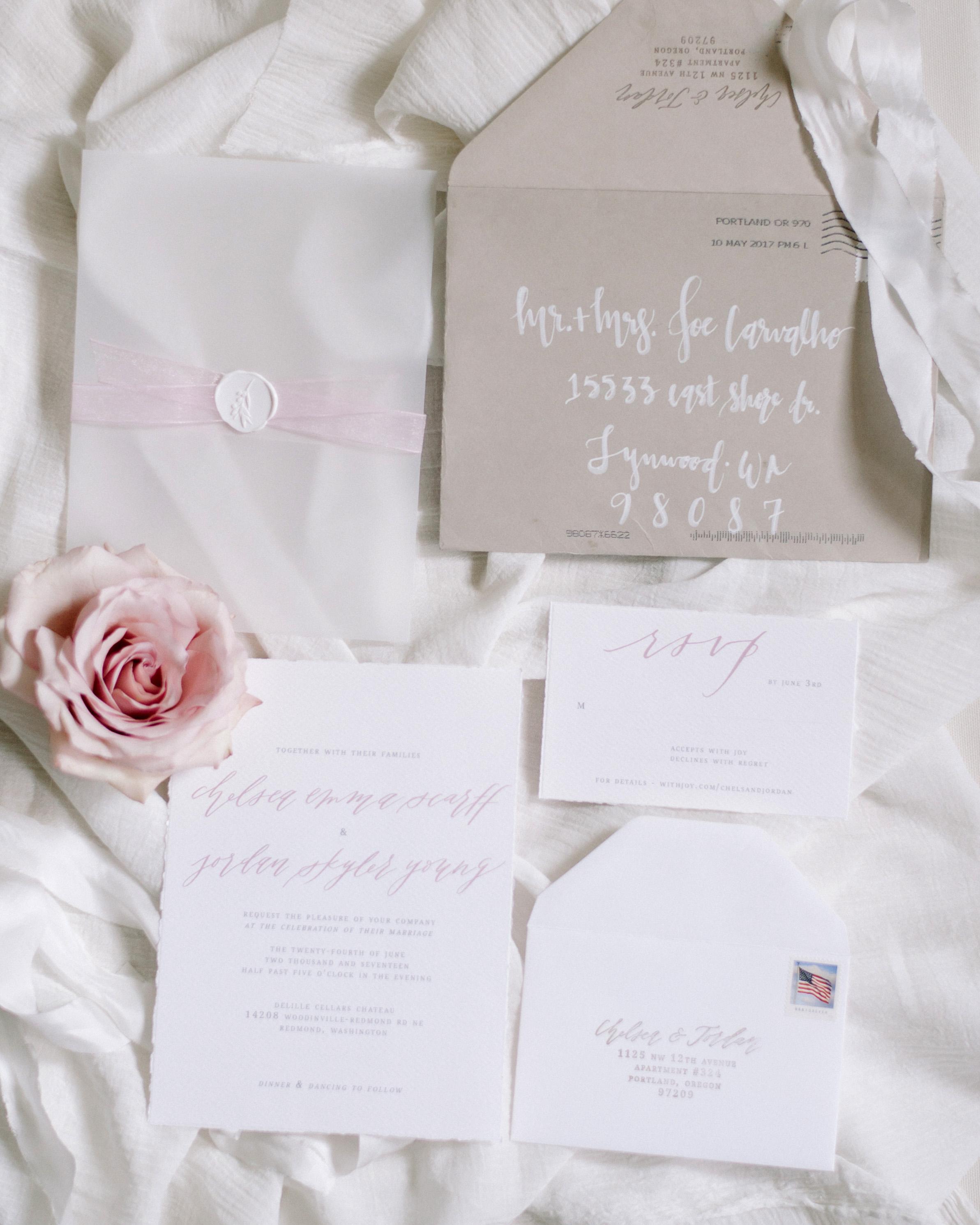 wax seal wedding invitations sprig wax seal