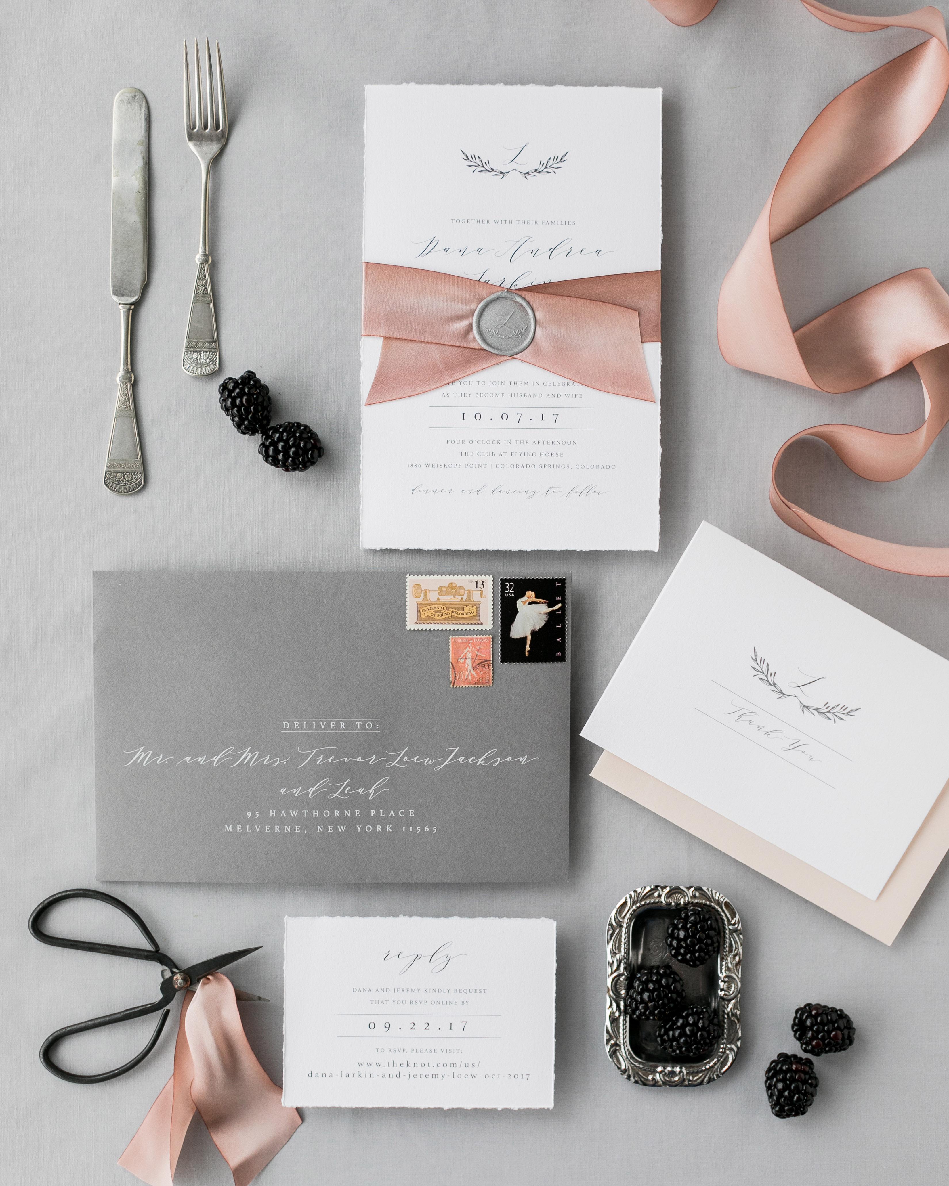wax seal wedding invitations custom wax seal
