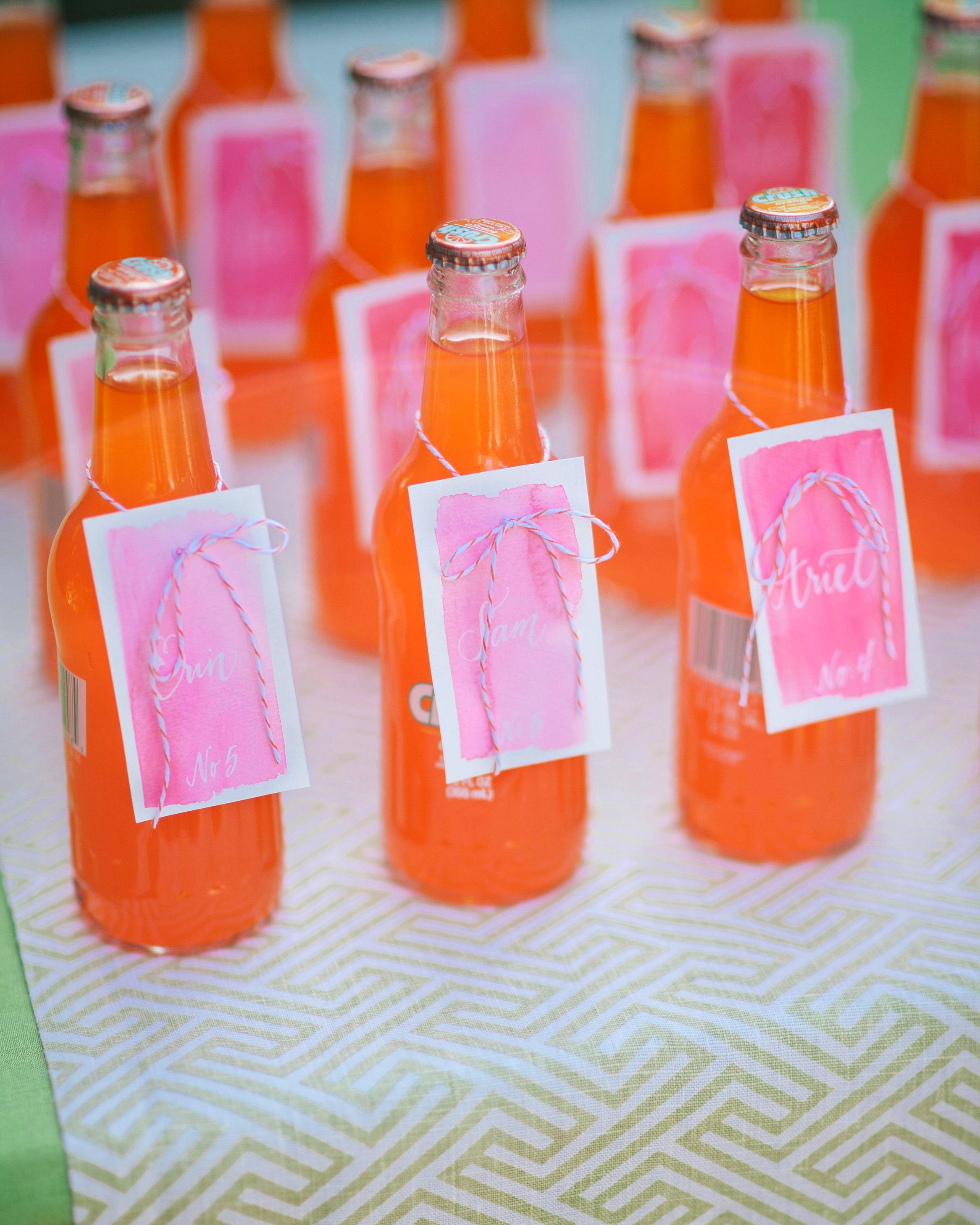 hydration stations non alcoholic orange soda with nametag
