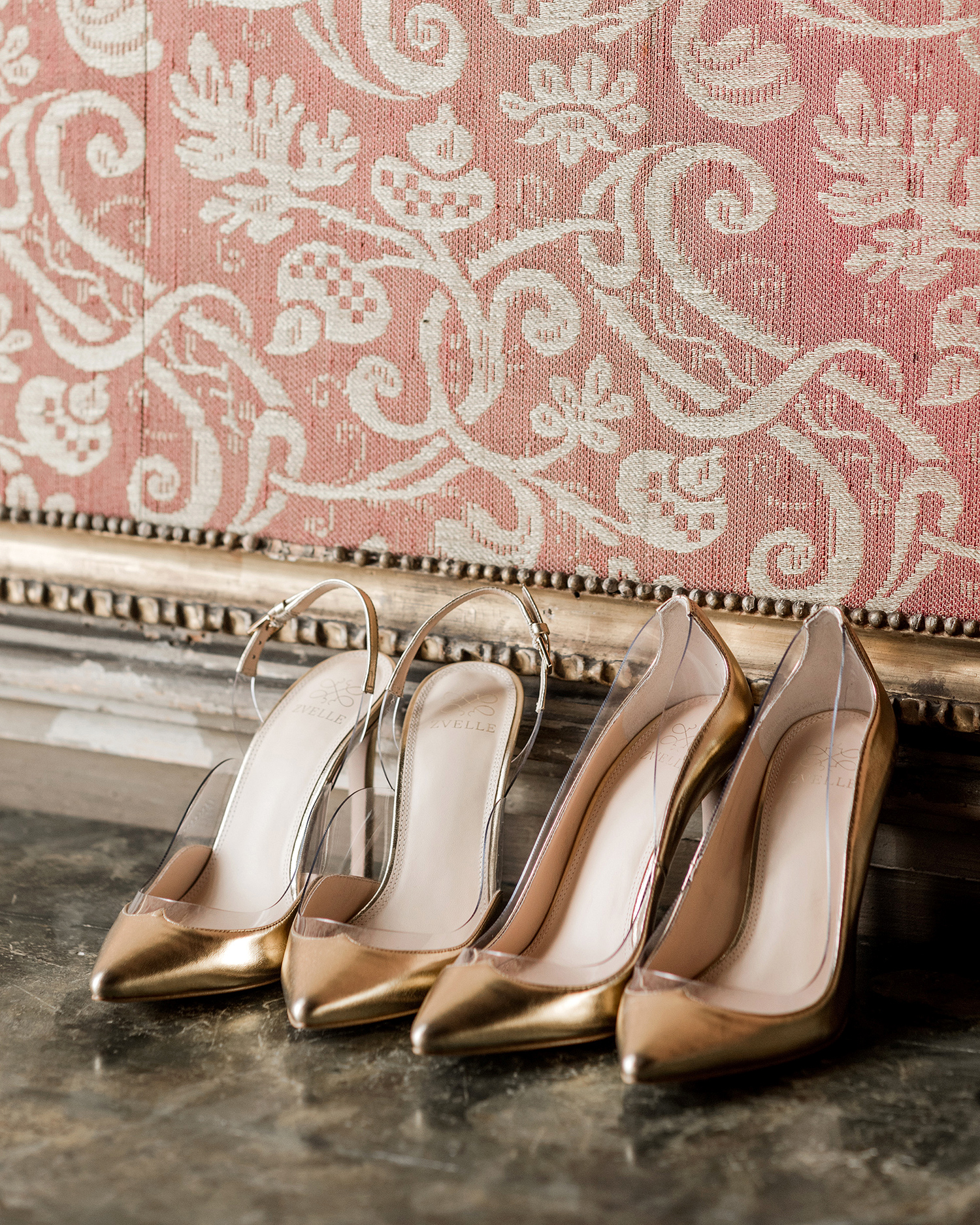 elle raymond venice wedding pairs gold pumps