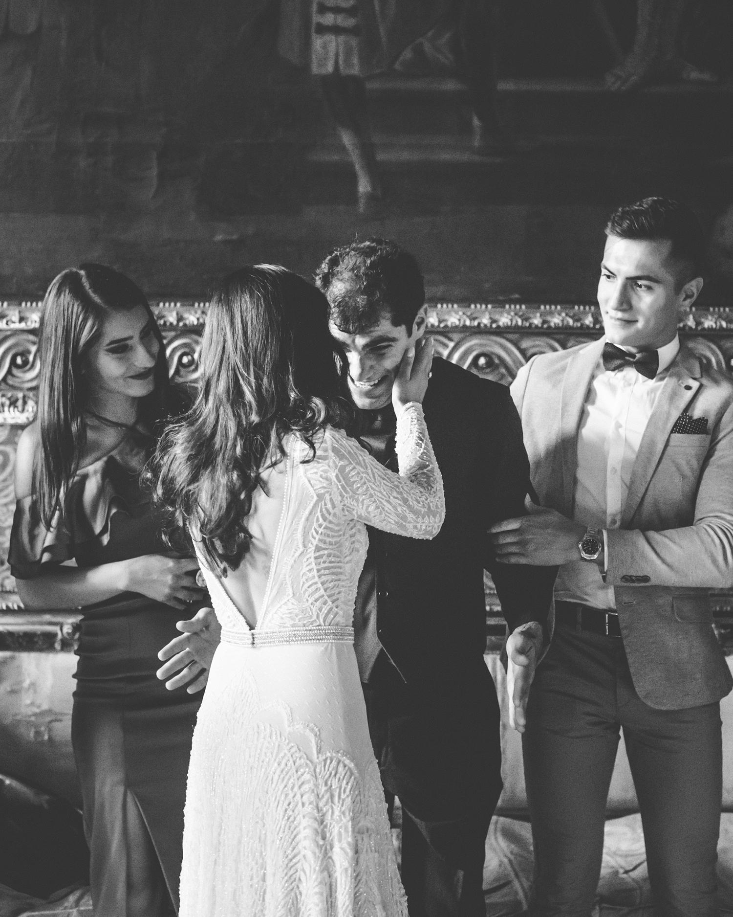 elle raymond venice wedding bride with brother