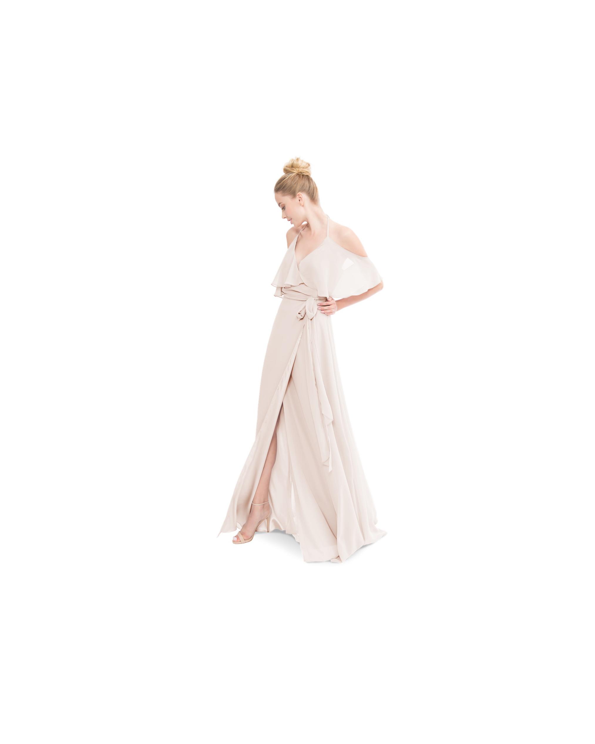 beige neutral bridesmaid dresses joanna august lauren long