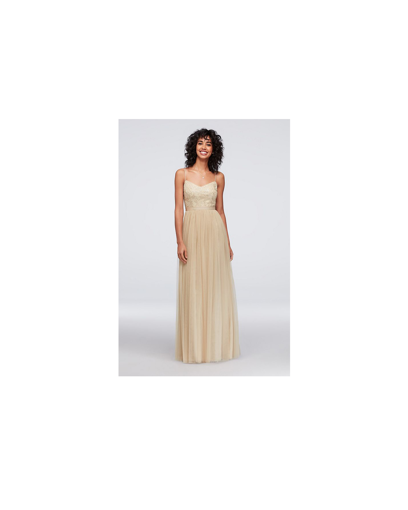 beige neutral bridesmaid dresses davids bridal sequin tulle