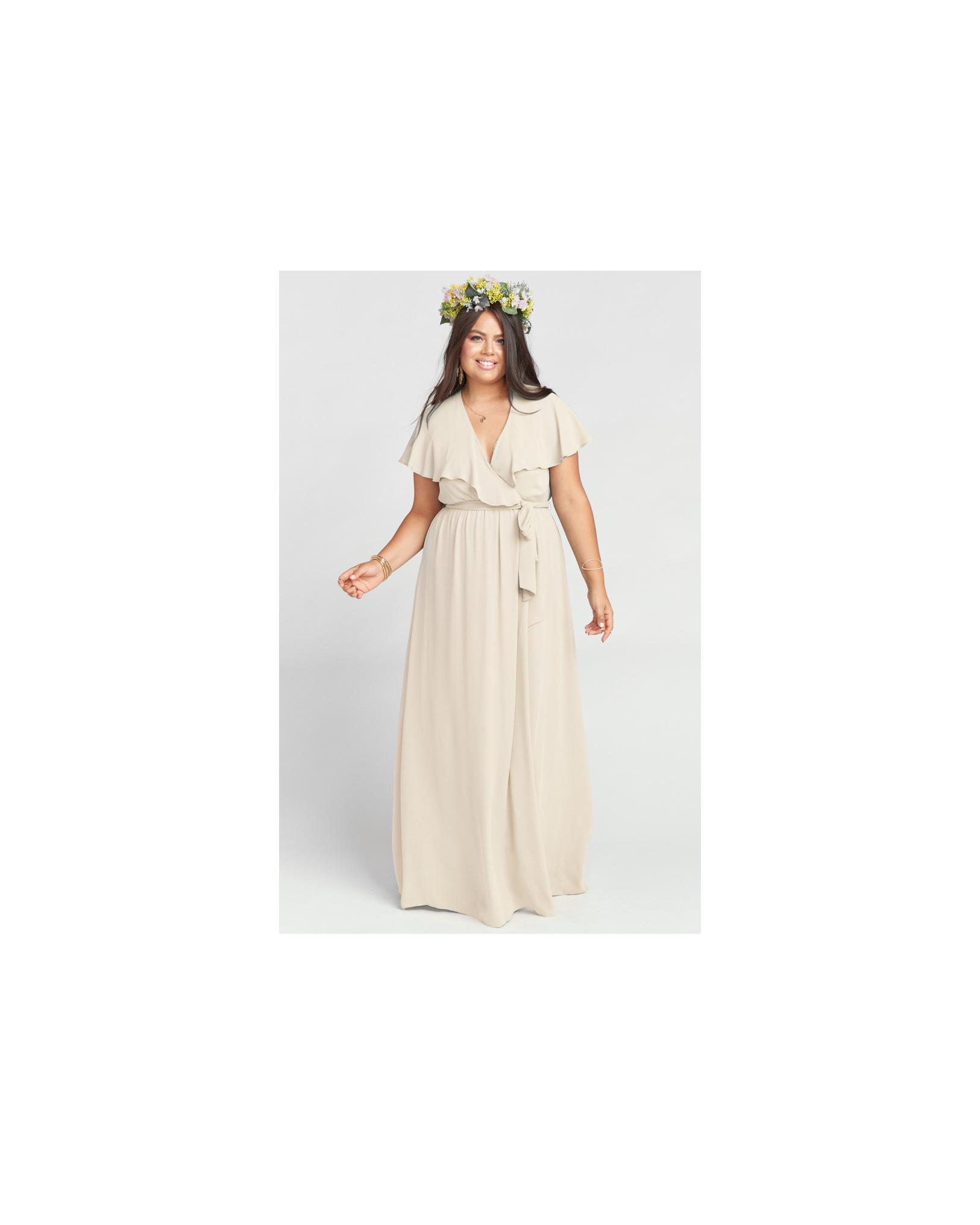 beige neutral bridesmaid dresses show me your mumu audrey