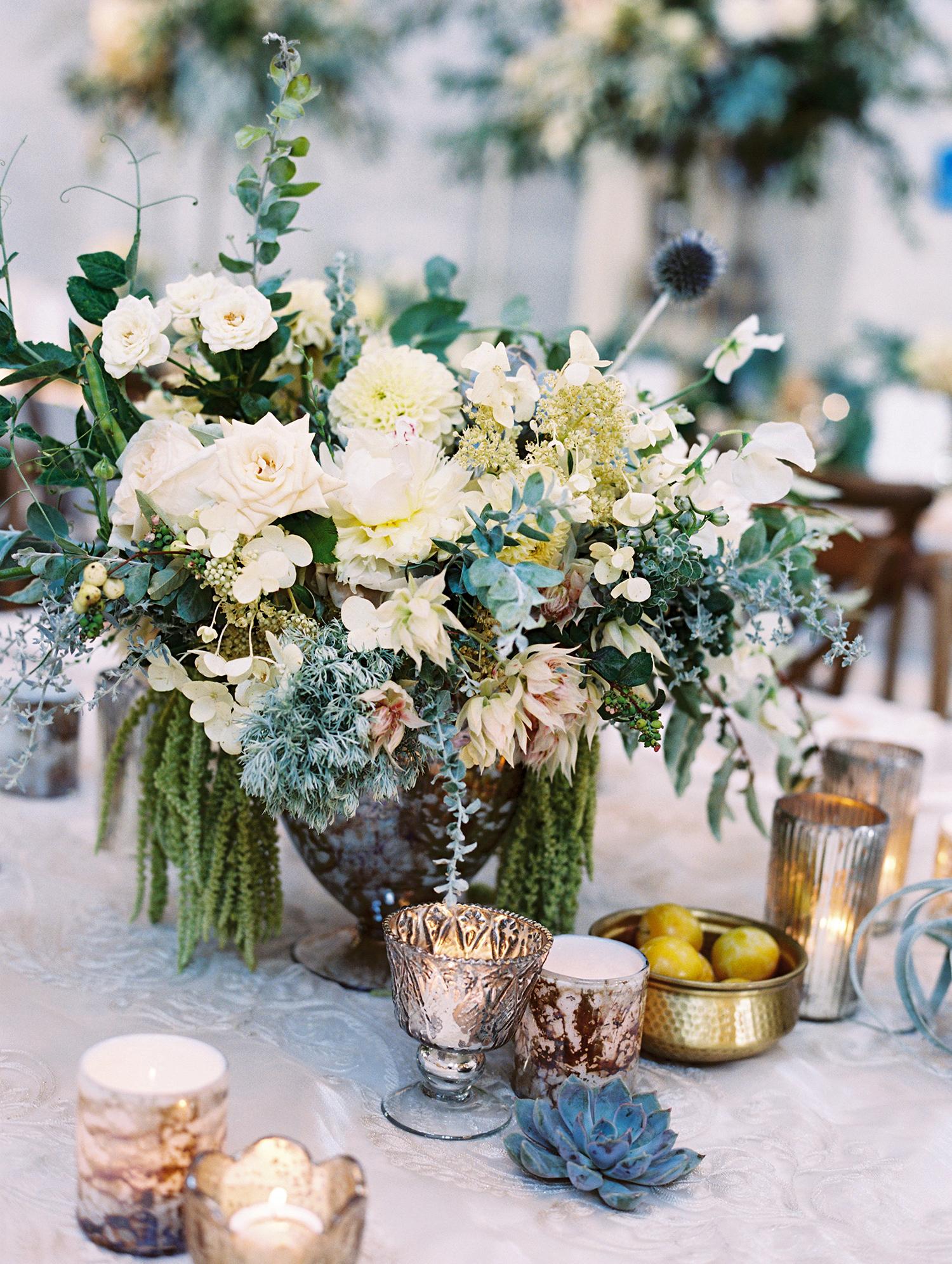 meki ian wedding centerpiece