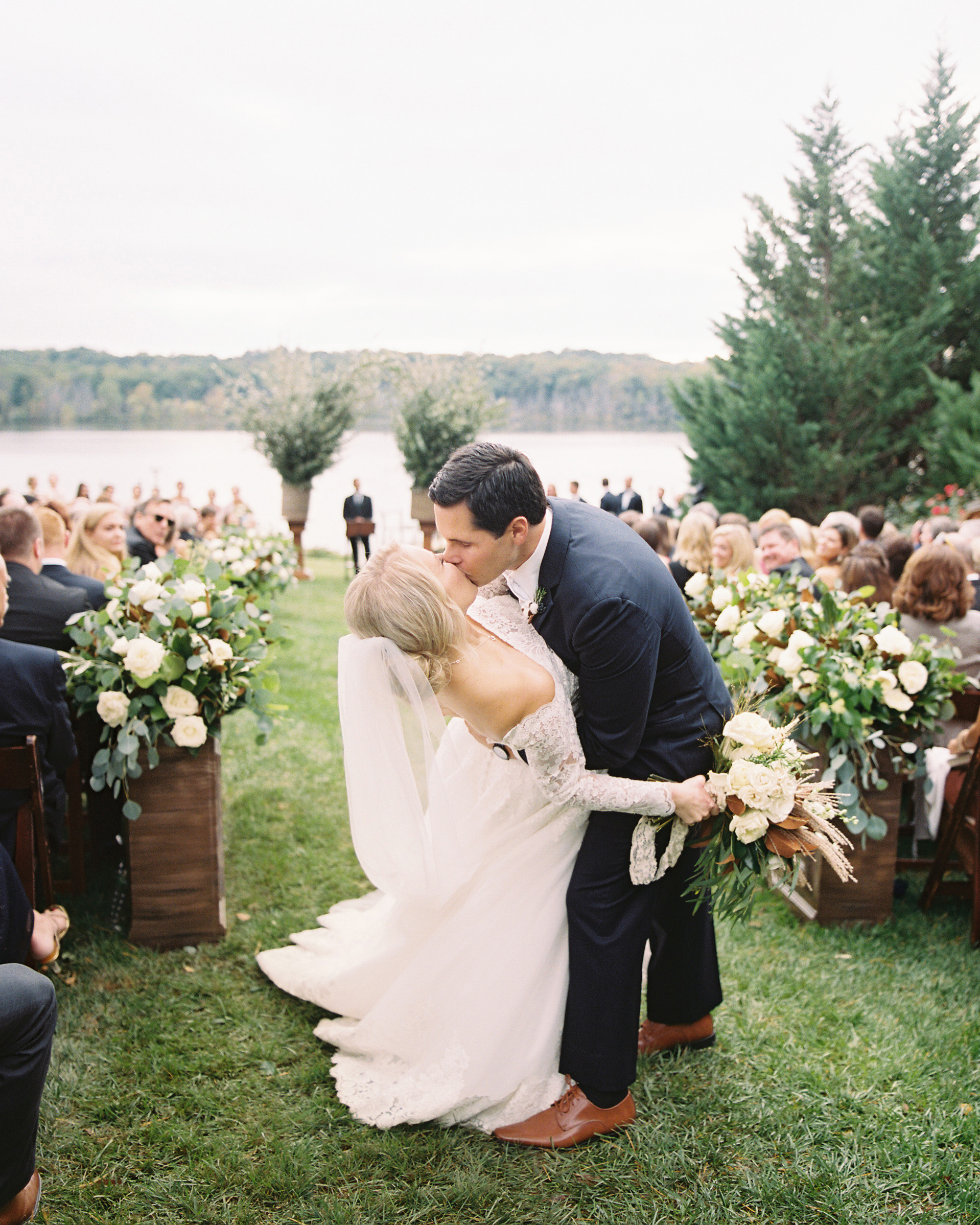 kendall nick wedding before ceremony kiss