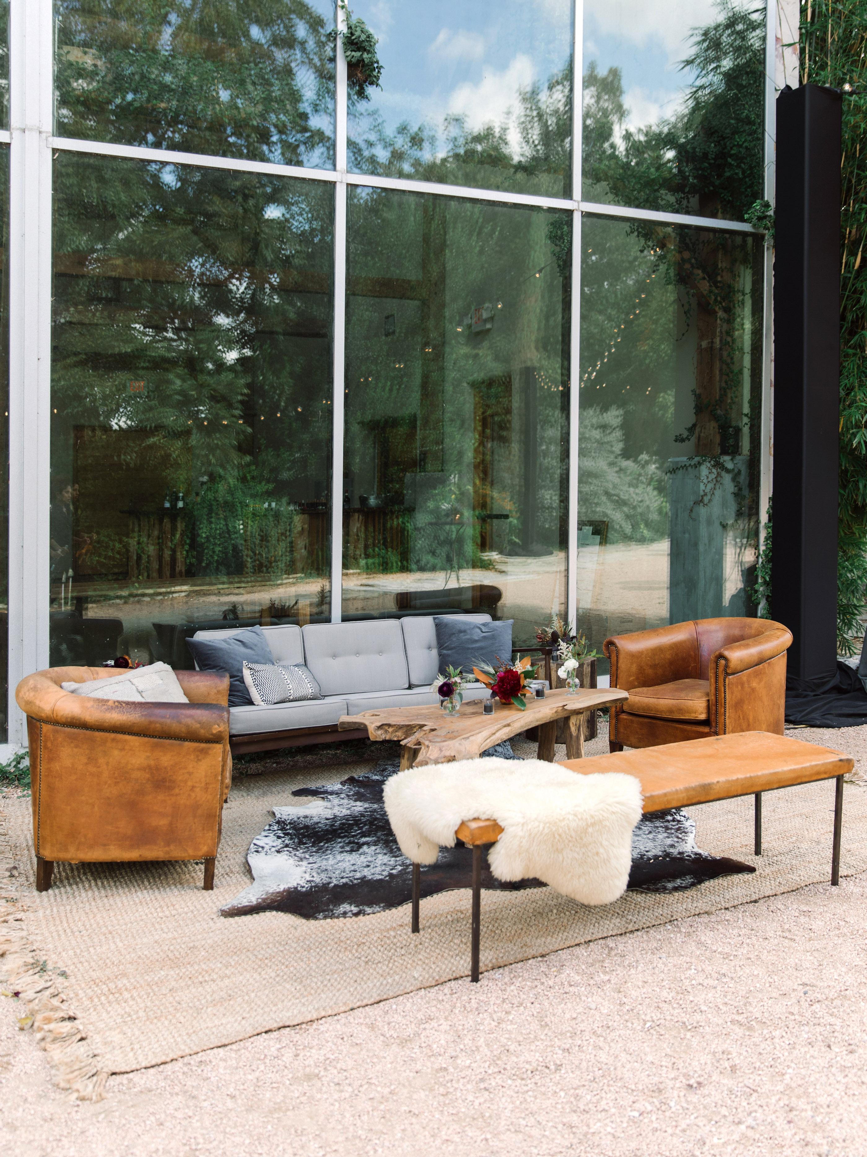 wedding lounge leather furniture