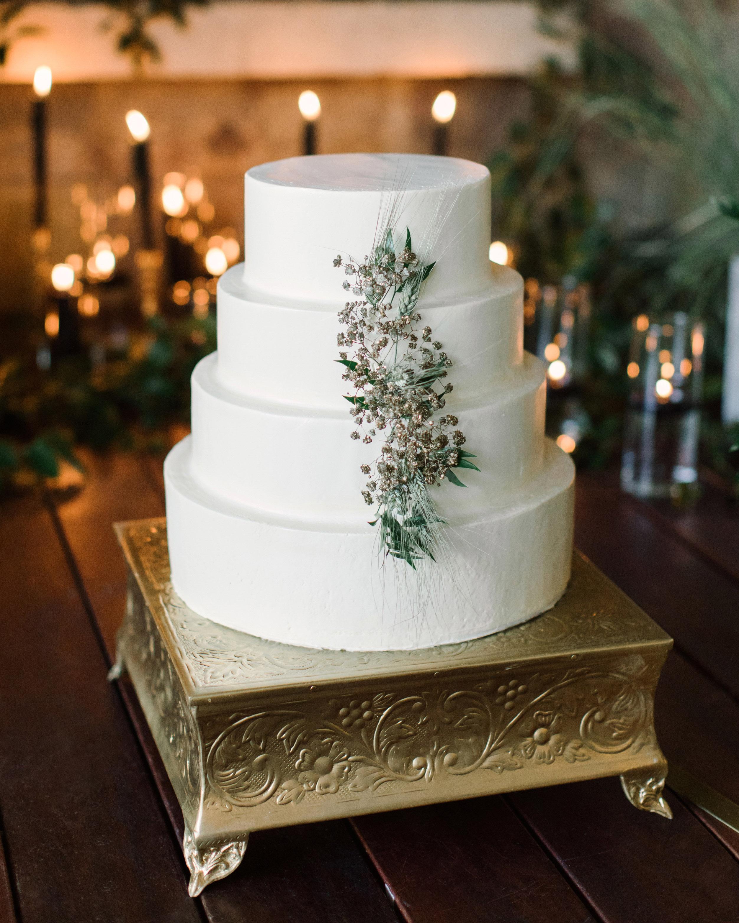 wedding white four tier cake