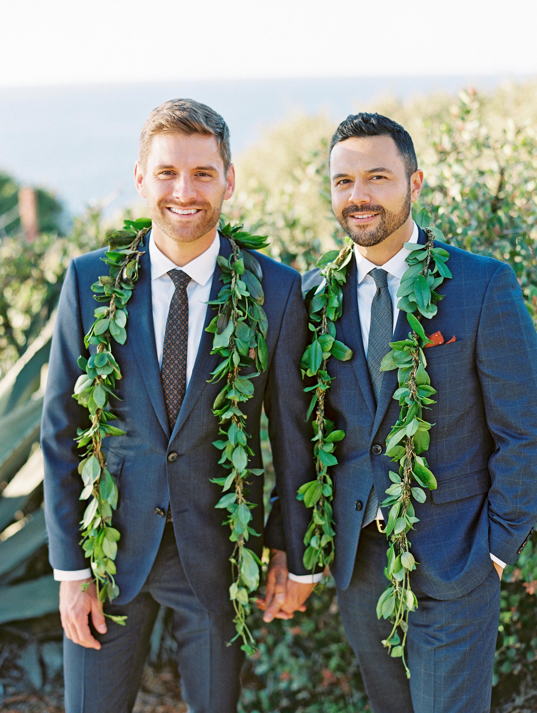 rob franco wedding grooms leis