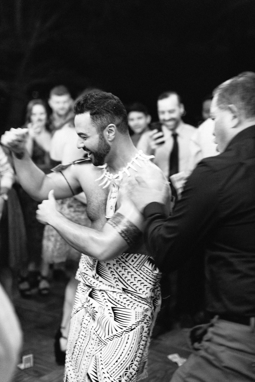 rob franco wedding samoan dance