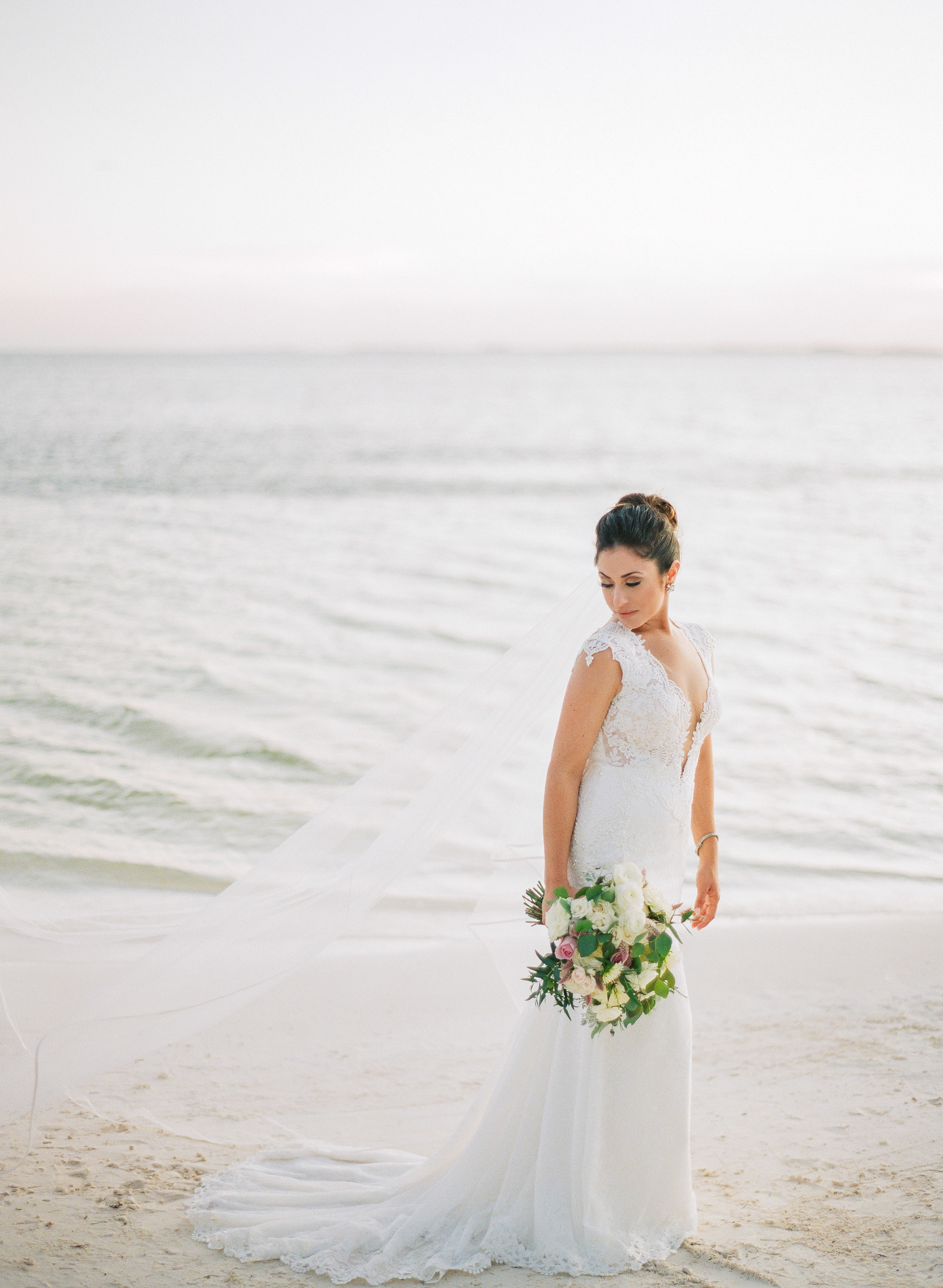vicky james mexico wedding bride beach