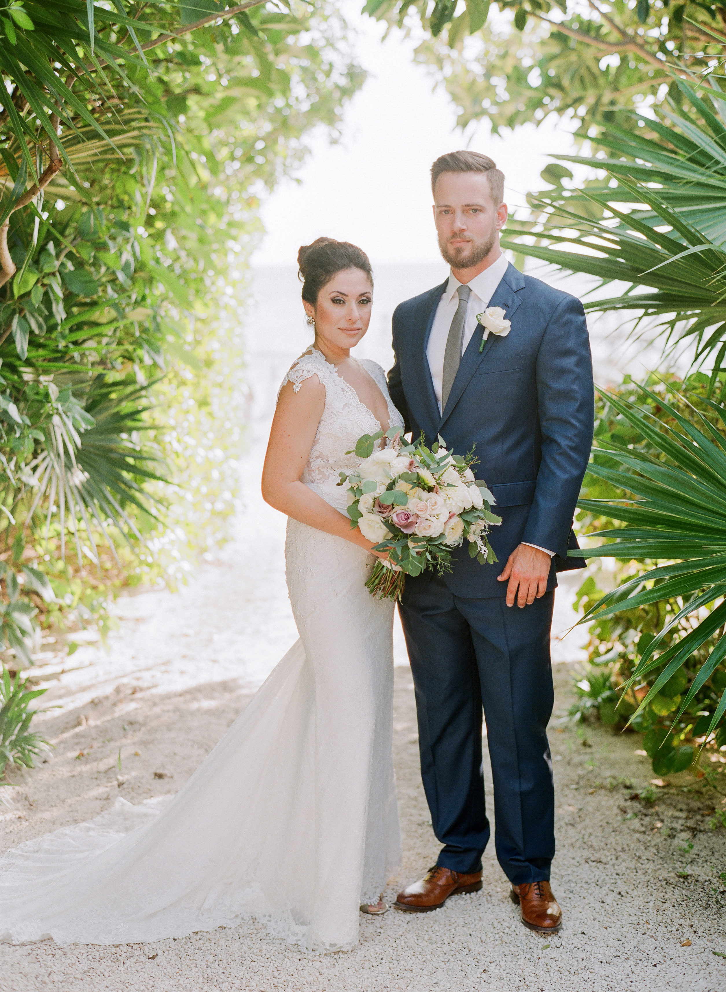 vicky james mexico wedding bride groom portrait
