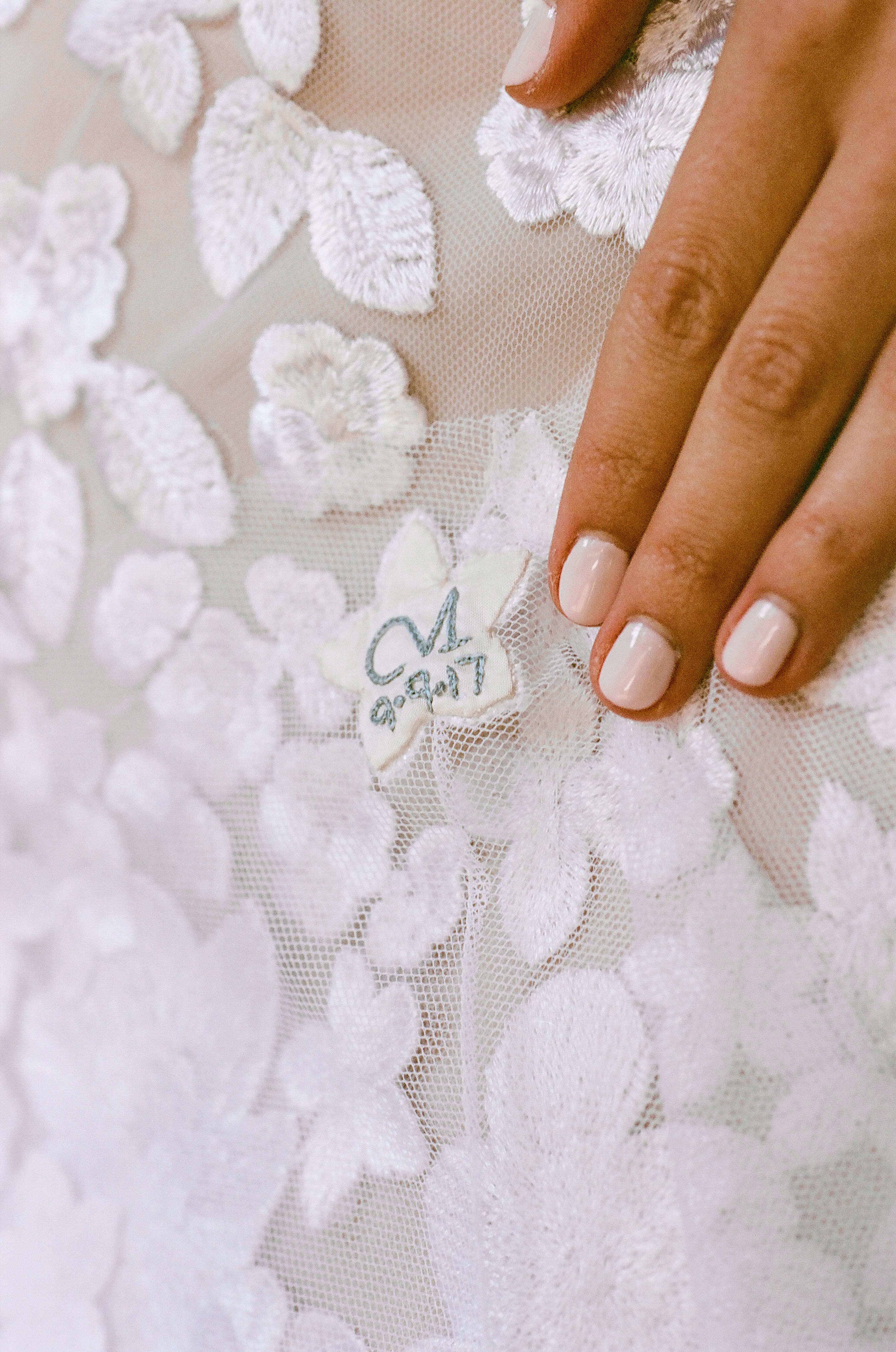caitlin michael wedding dress detail