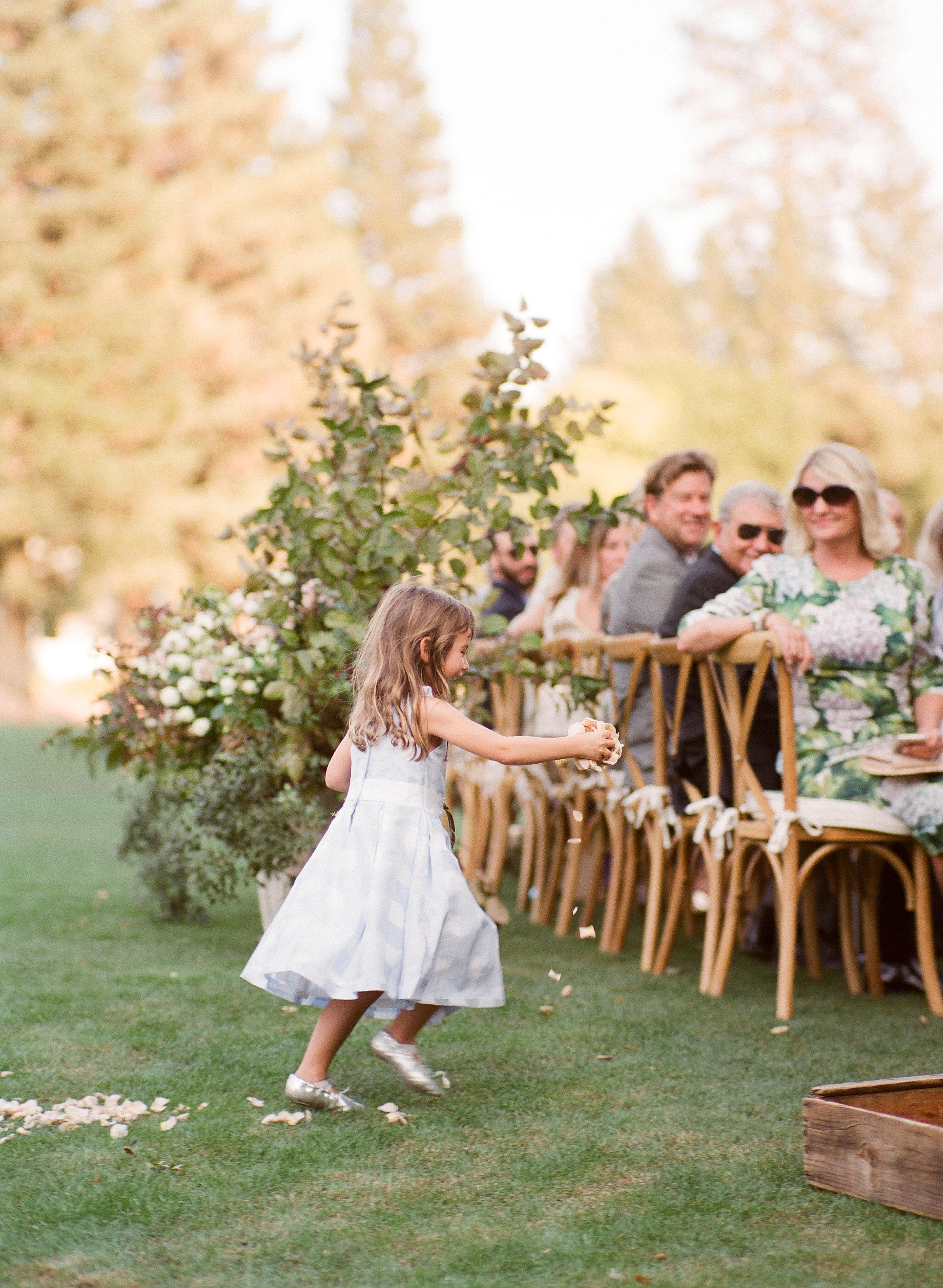 caitlin michael wedding flower girl