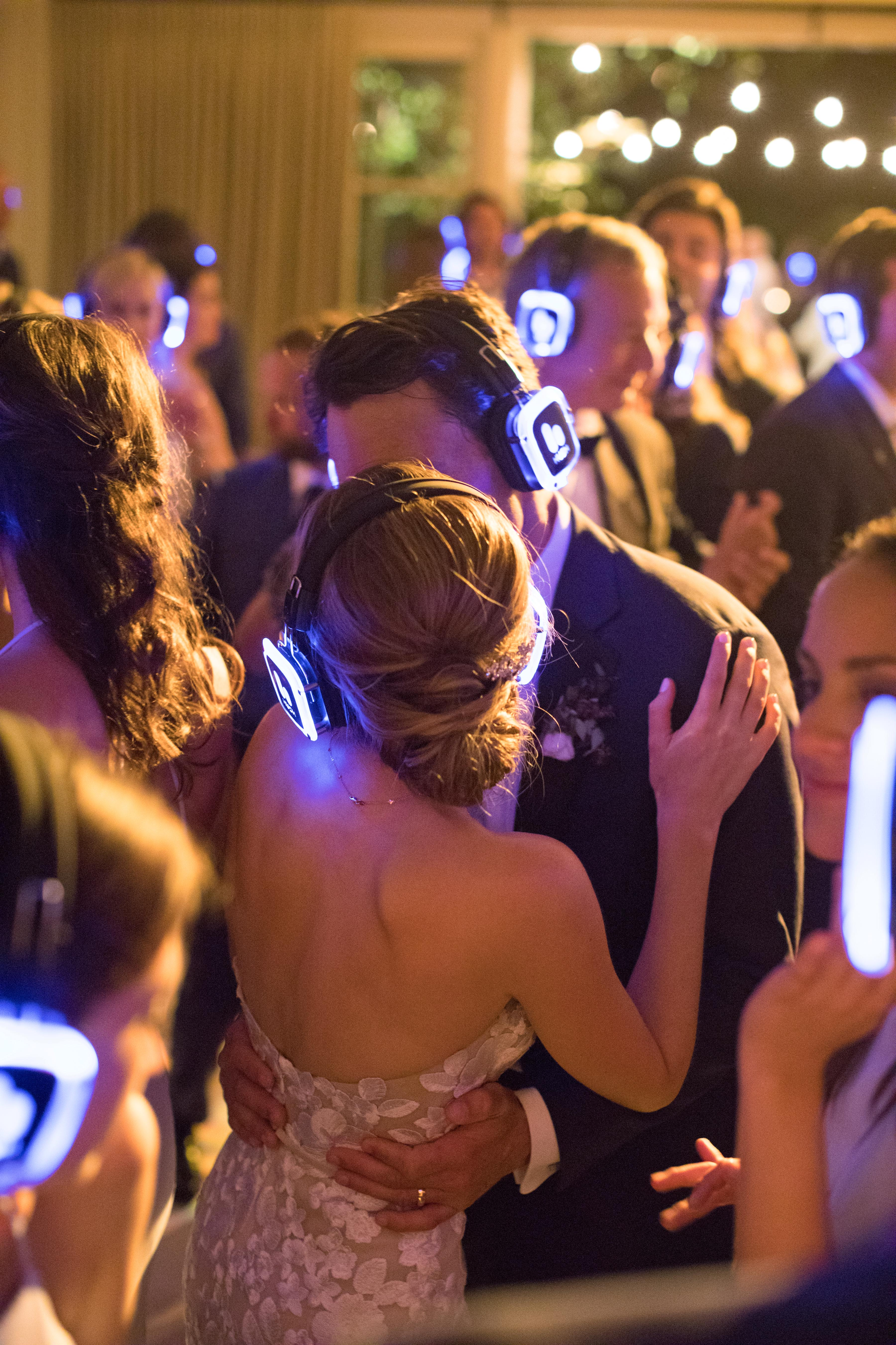 caitlin michael wedding silent disco