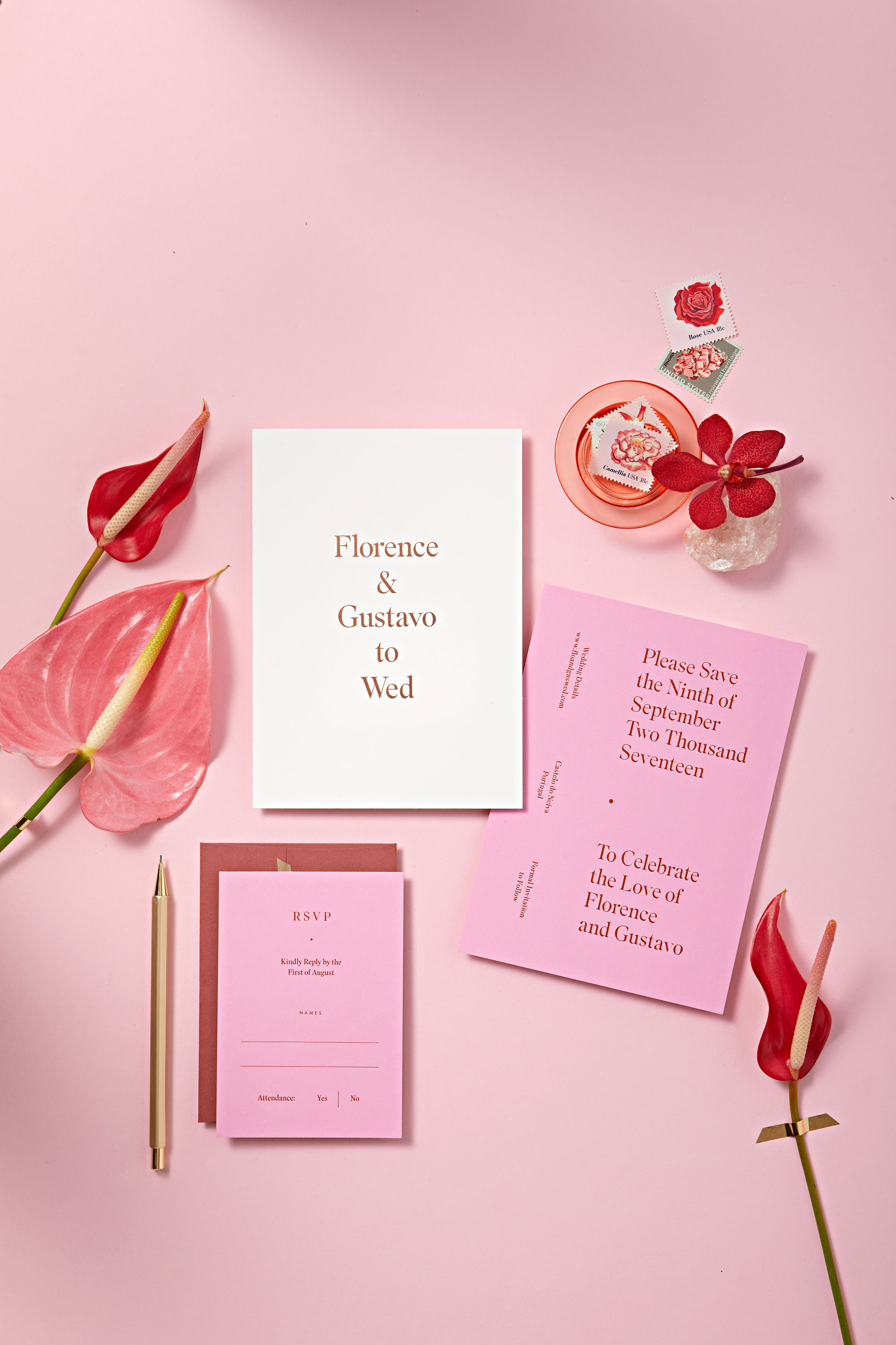 rosy palette invites flowers